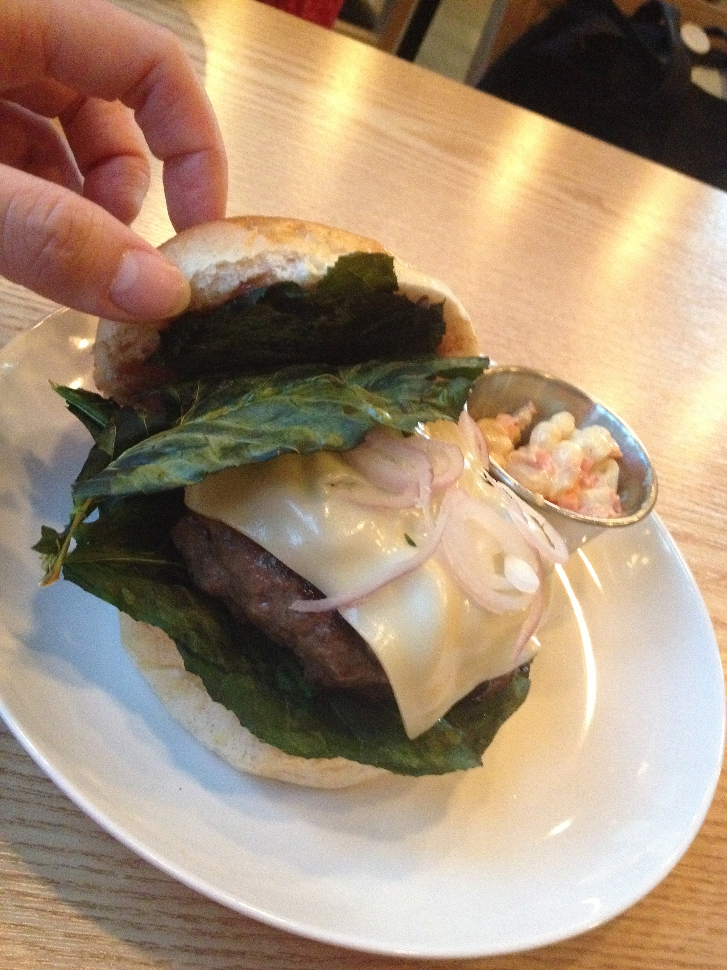 The Kale chip was oven toasted to a crisp and added such a nice crunchy texture to the burger.