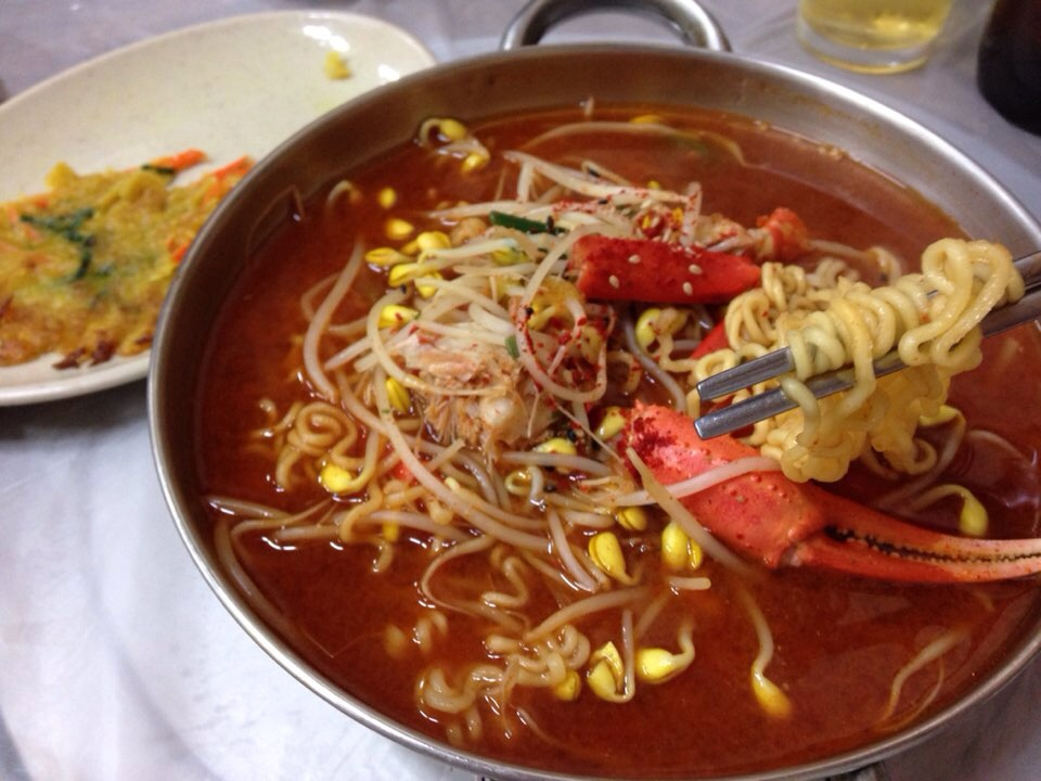 Crab Ramen that was also part of the set meal.