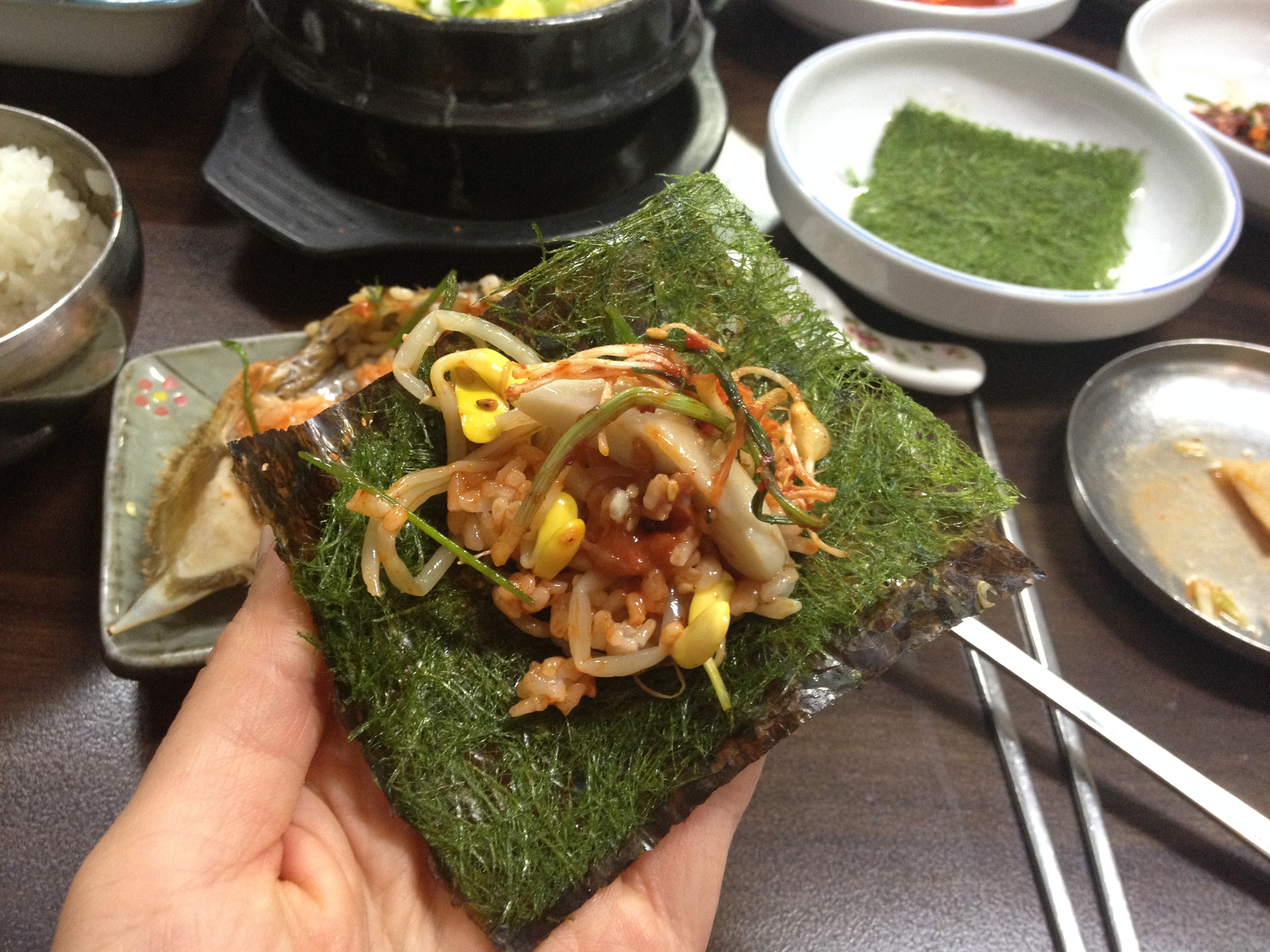Really, you can combine the seaweed with filling of whatever you like to suit your taste!