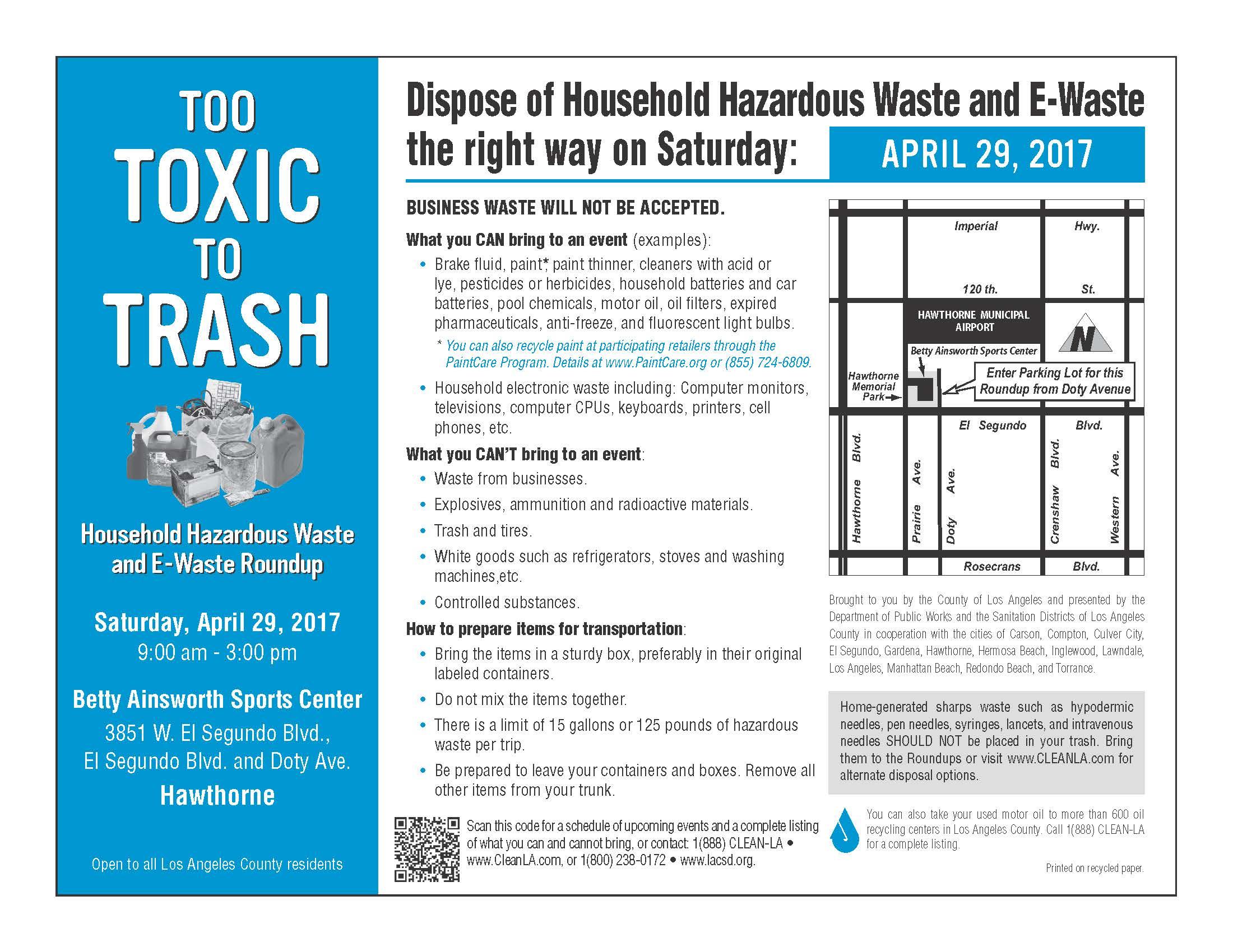 Hazardous Waste English Flyer