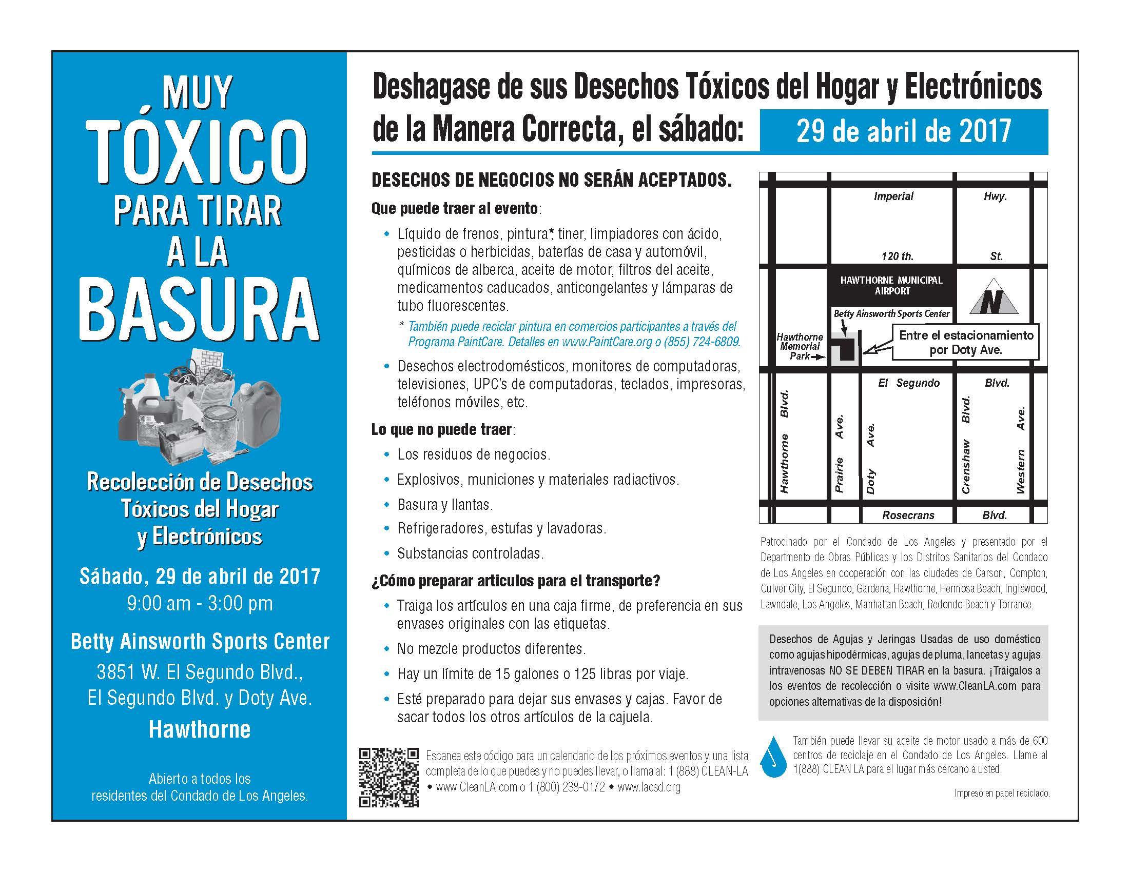 Hazardous Waste Spanish Flyer
