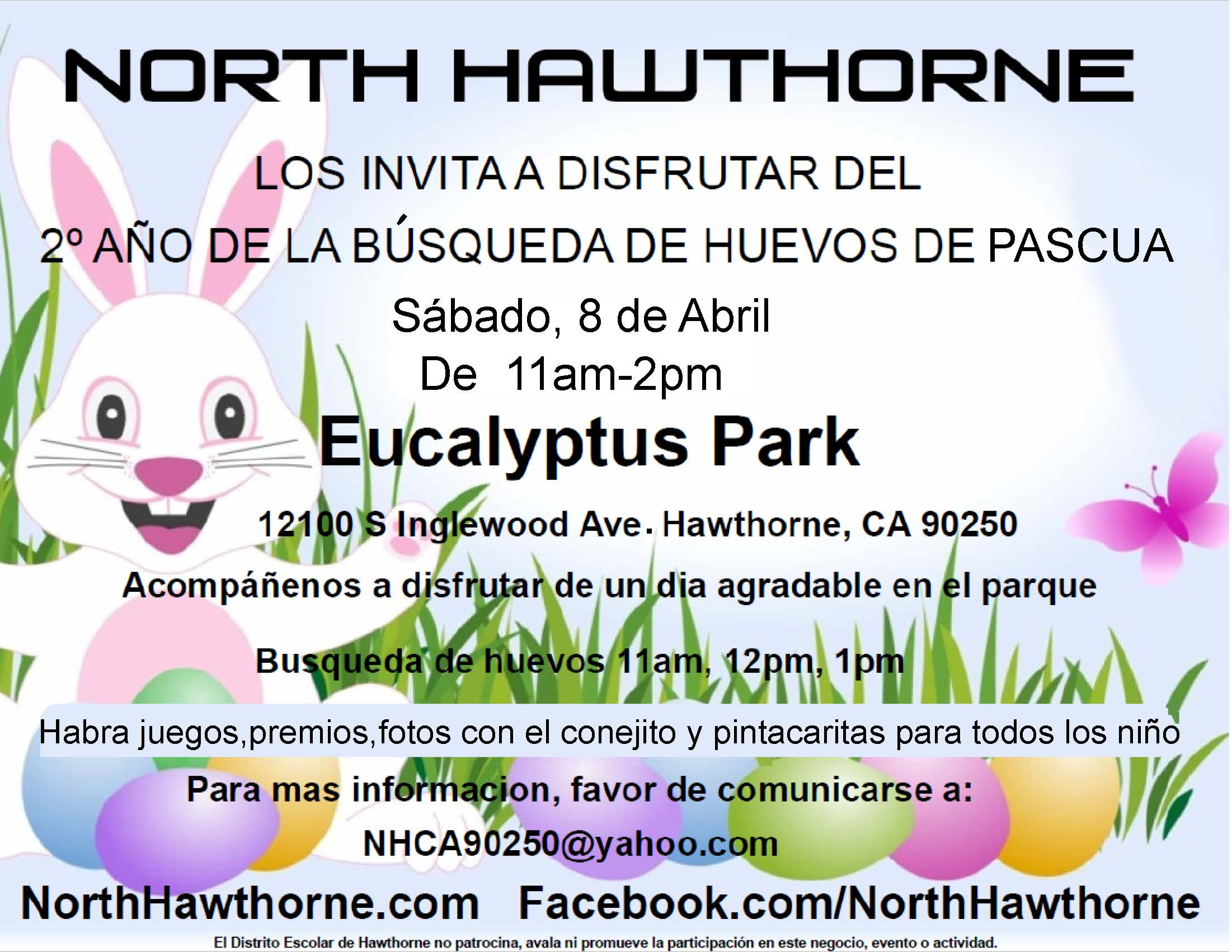 Easter Egg Hunt Spanish Flyer