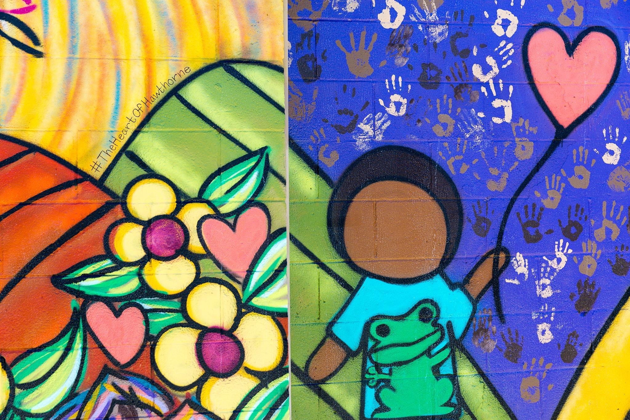 Closeup of Hand prints
