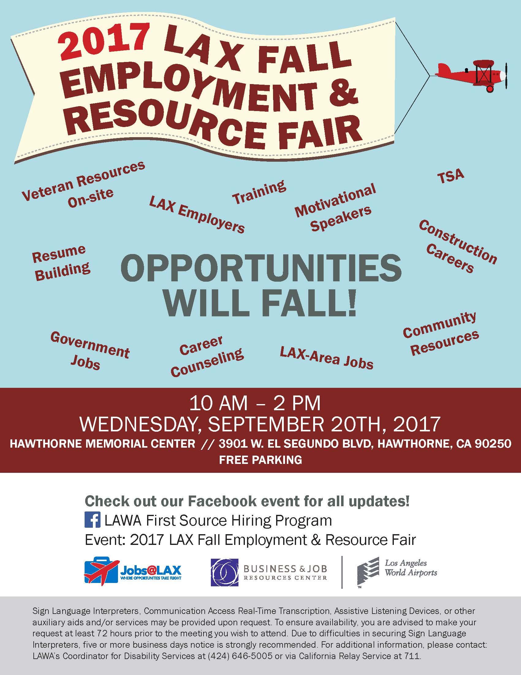 2017 LAX Fall Employment & Resource Fair