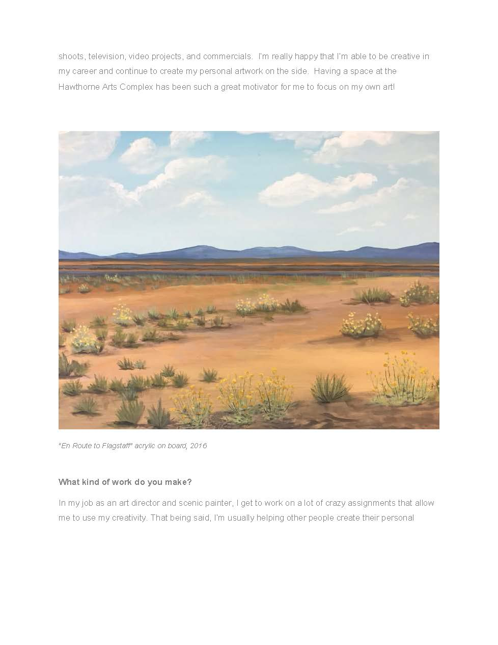 Painting - Route to Flagstaff