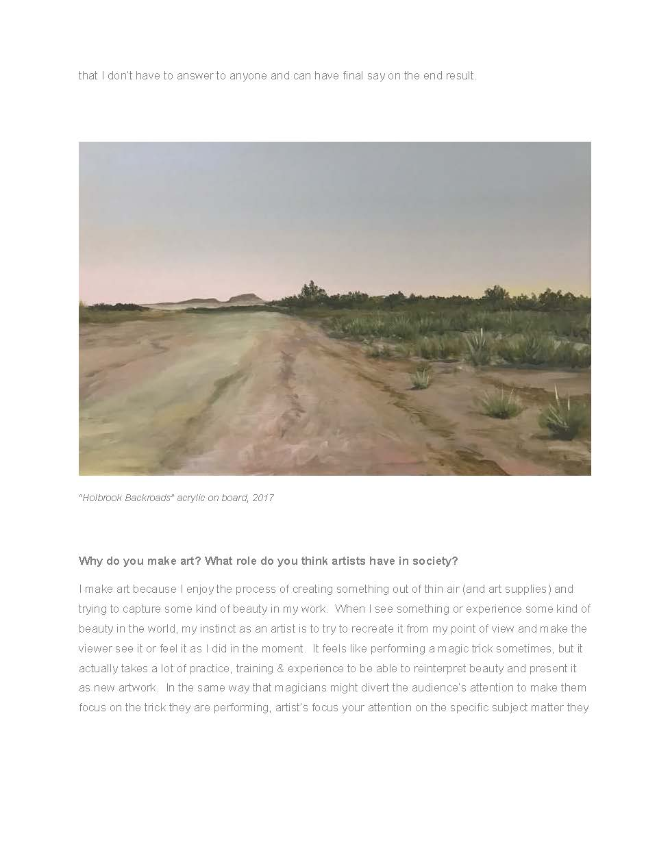 Painting - Holbrook Backroads