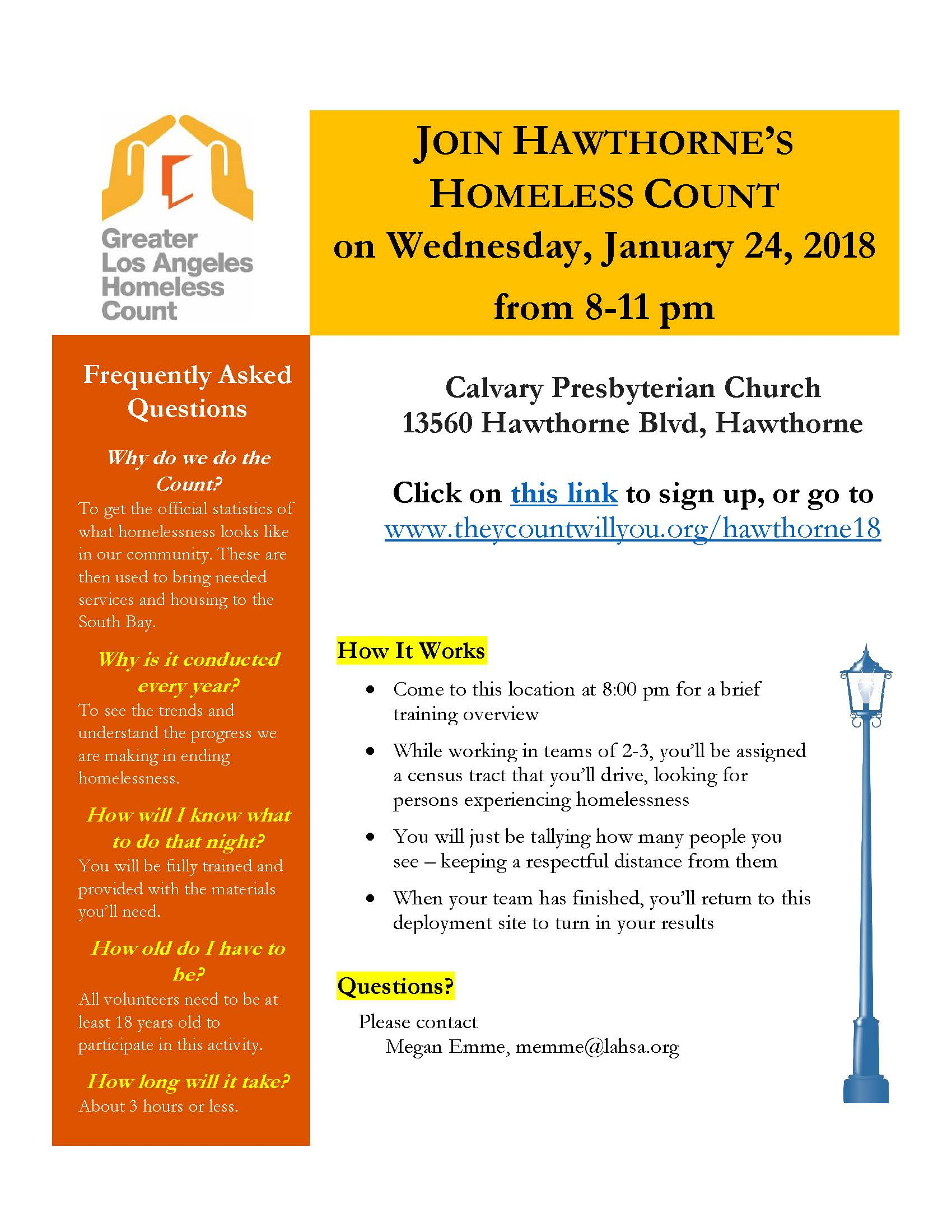 Join Hawthorne's Homeless Count