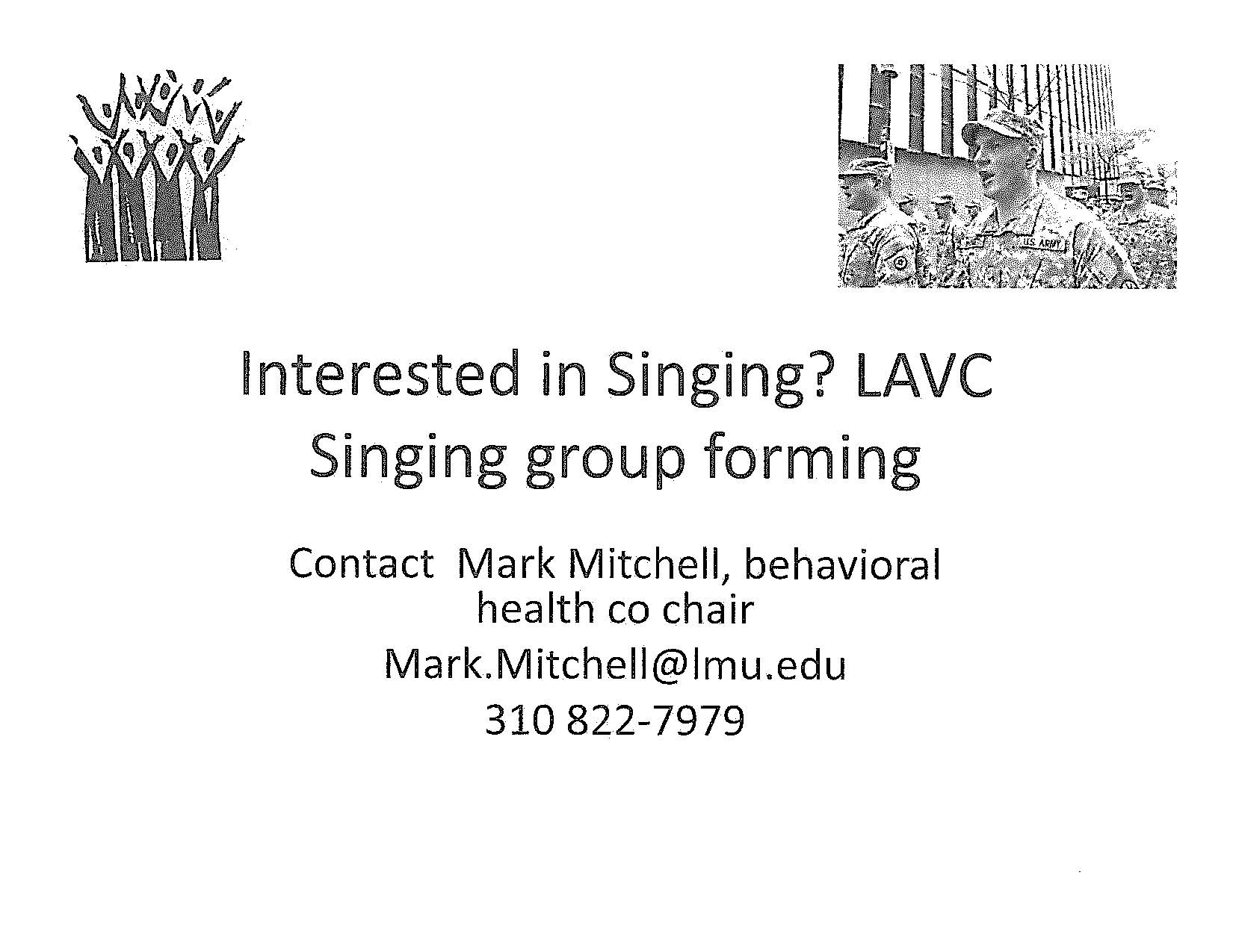 Singing group forming