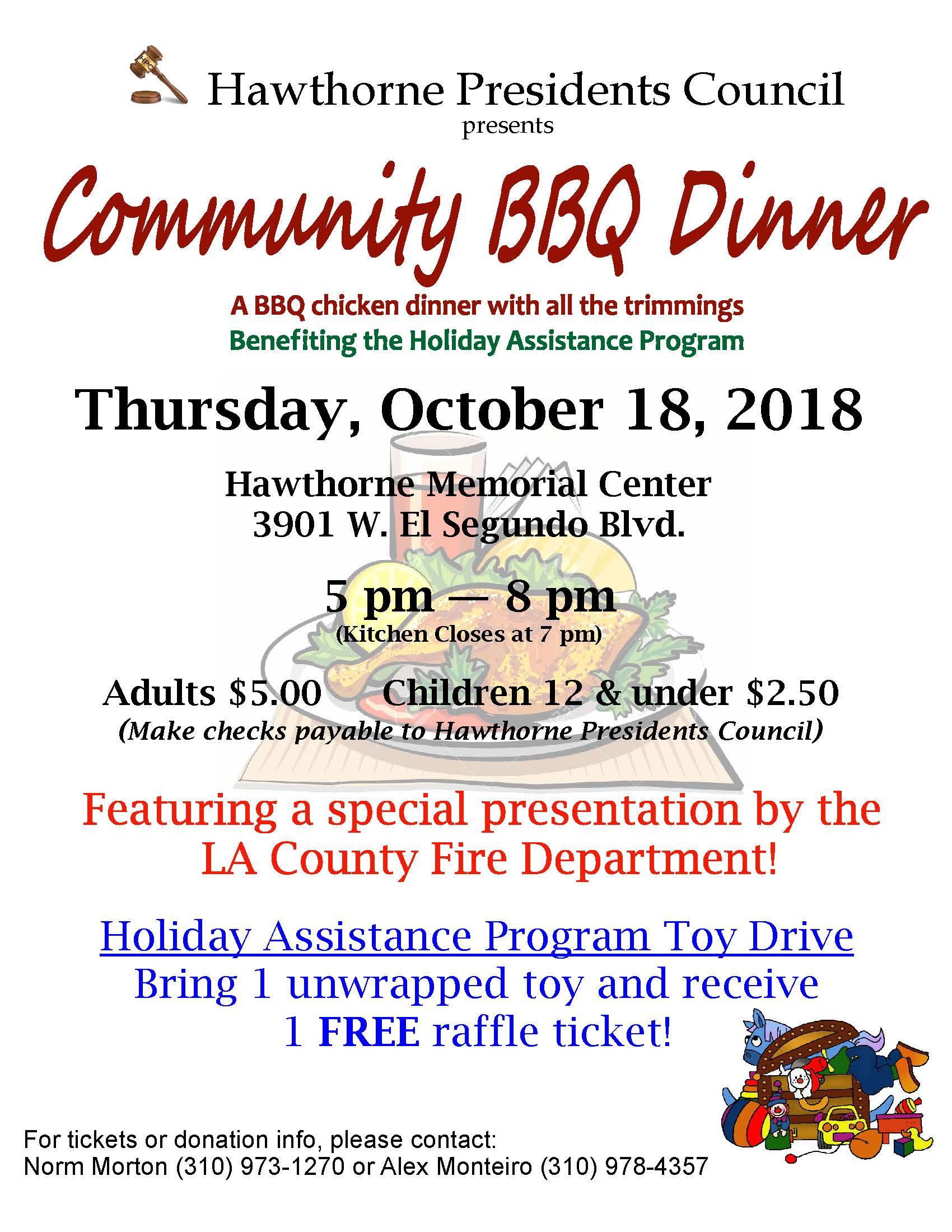 Community BBQ Dinner