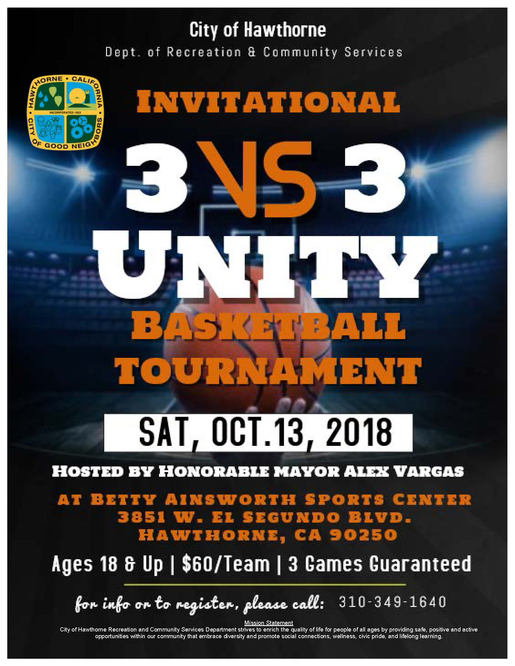 Invitational 3VS 3 Basketball Tournament