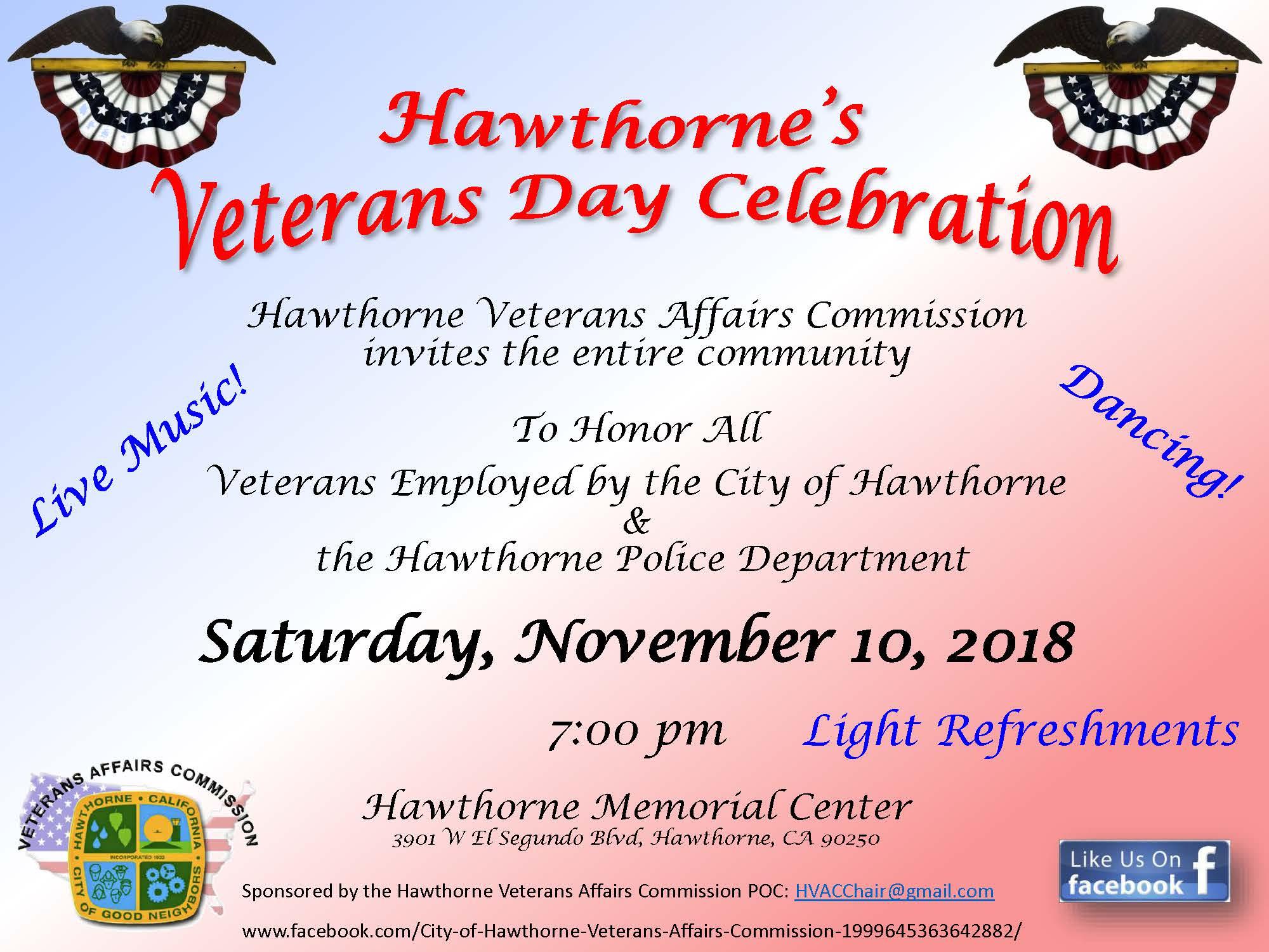 Hawthorne's Veterans Day Celebration
