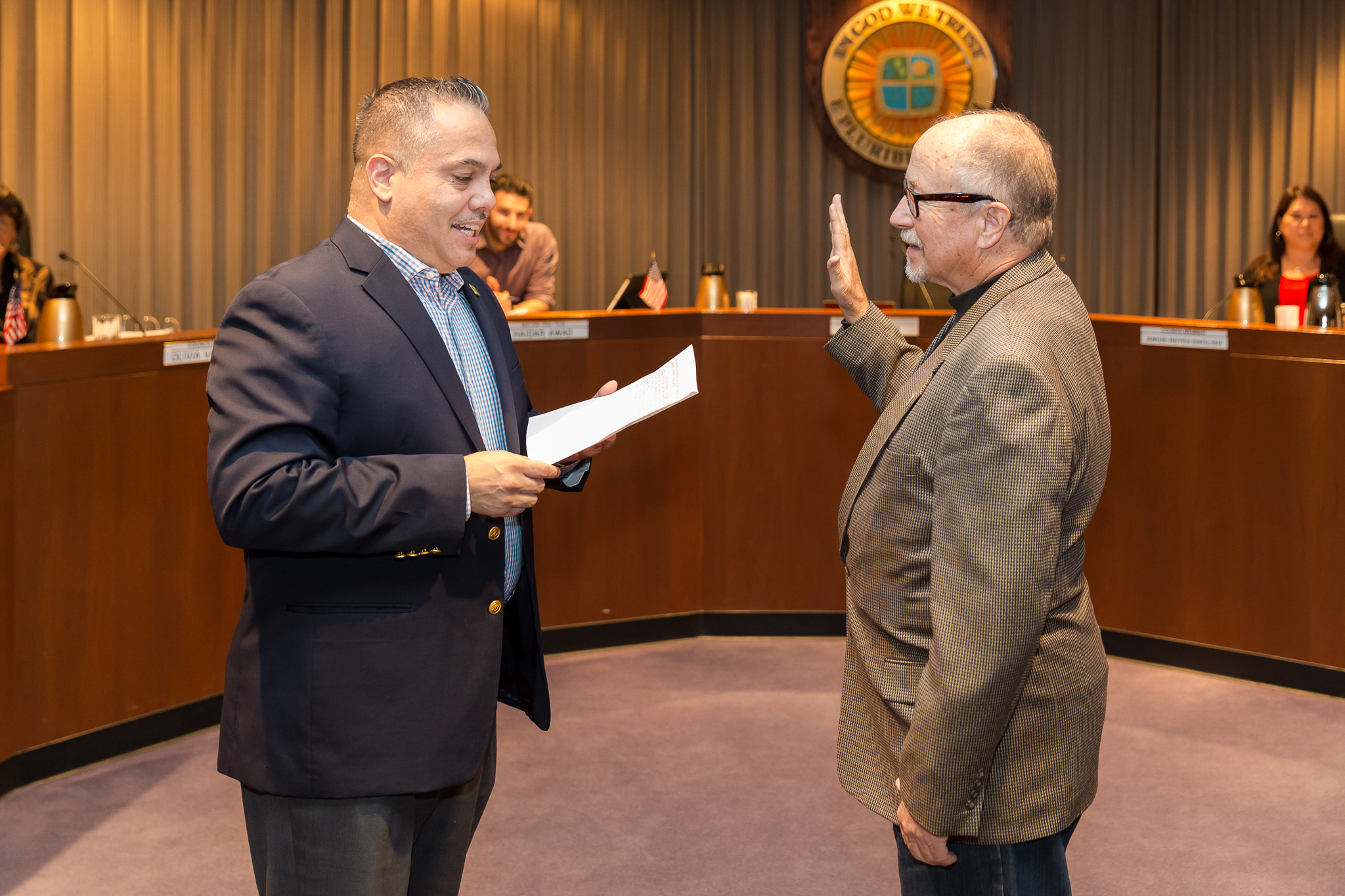 Mayor Alex Vargas and Donald Harris