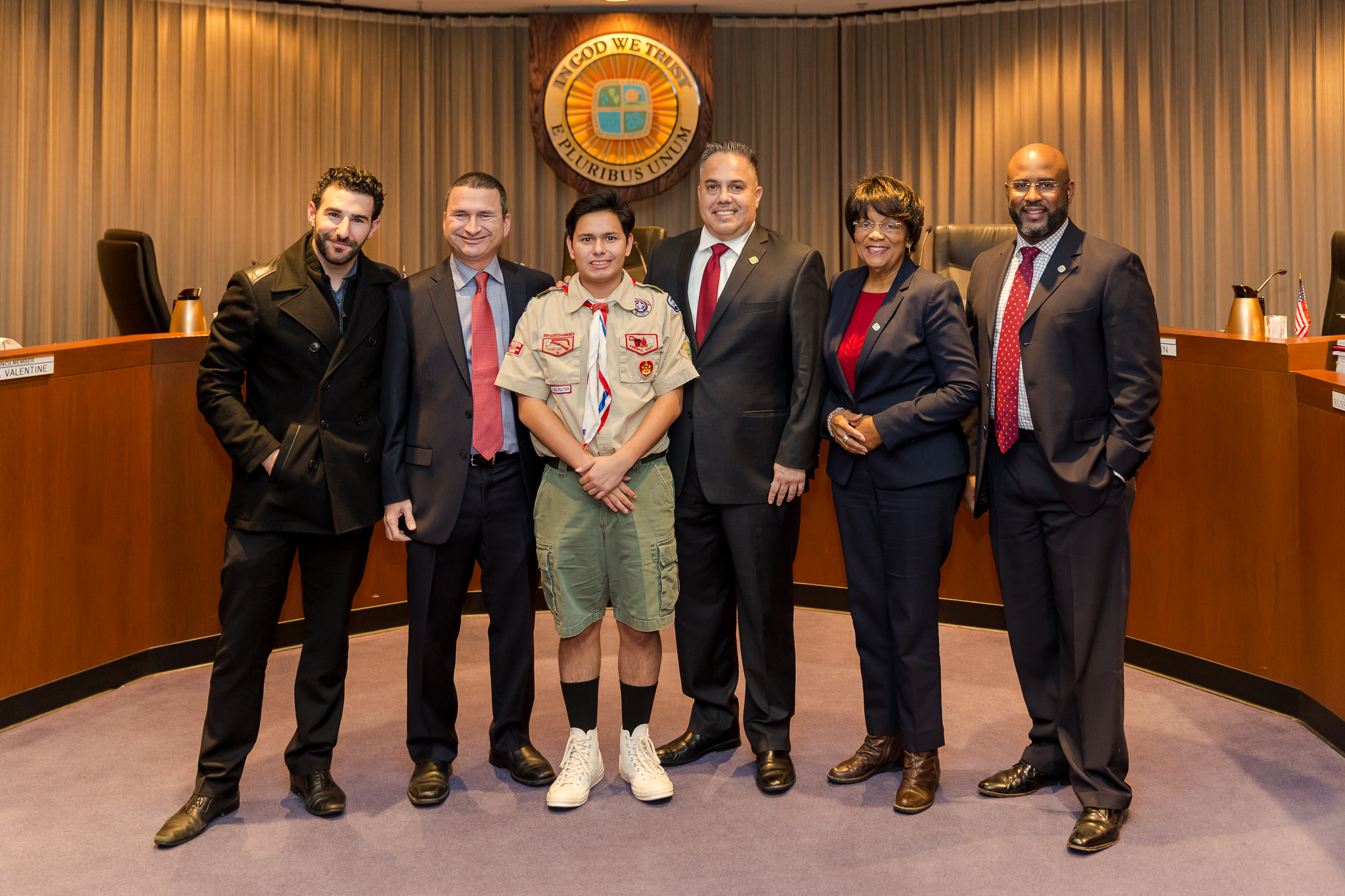 Eagle Scout David Salcedo and council