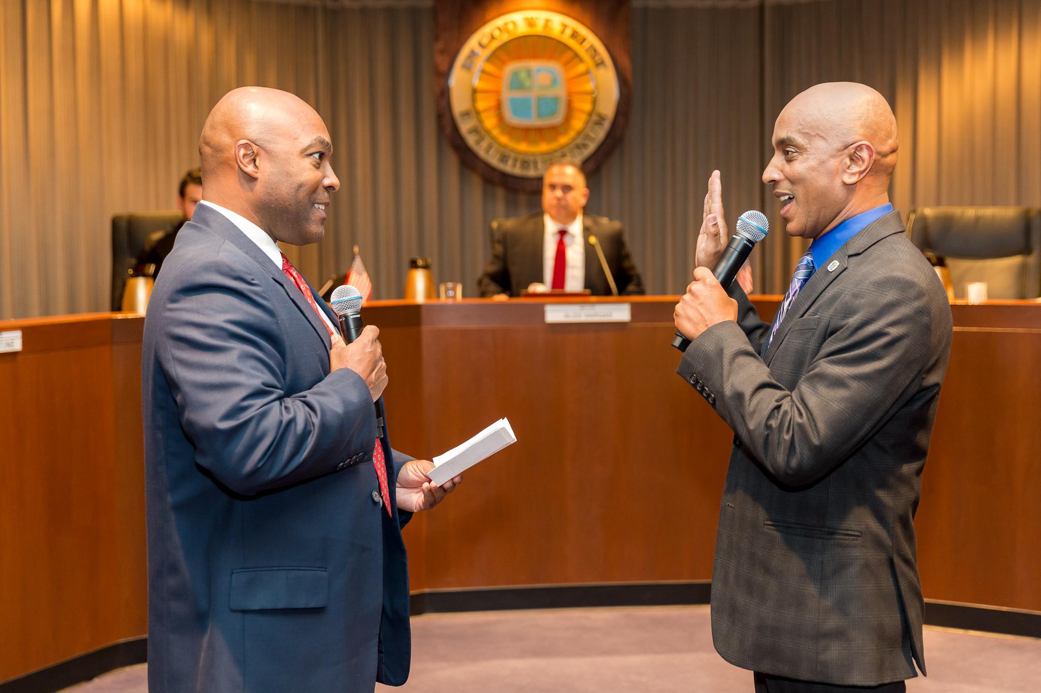 Councilman Alex Monteiro oath of office