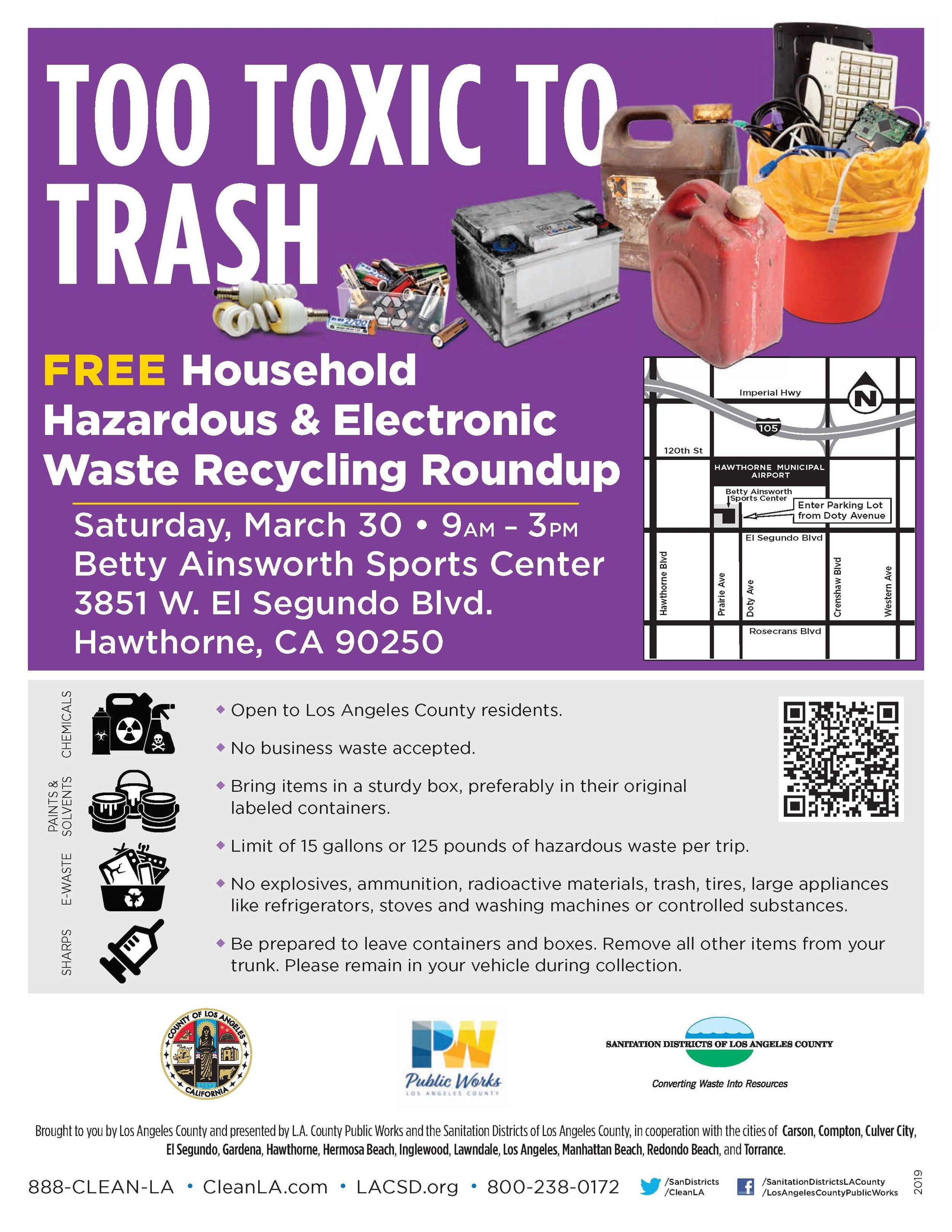 Household Hazardous & Electronic Waste Recycling Roundup