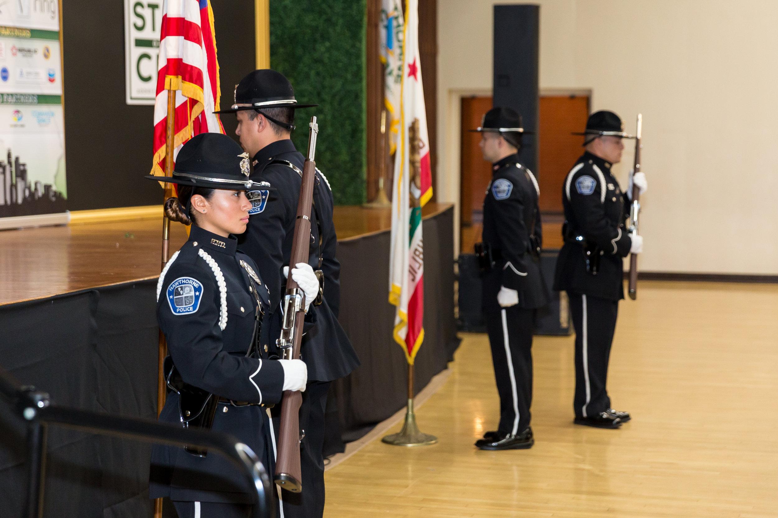 Flag color guard