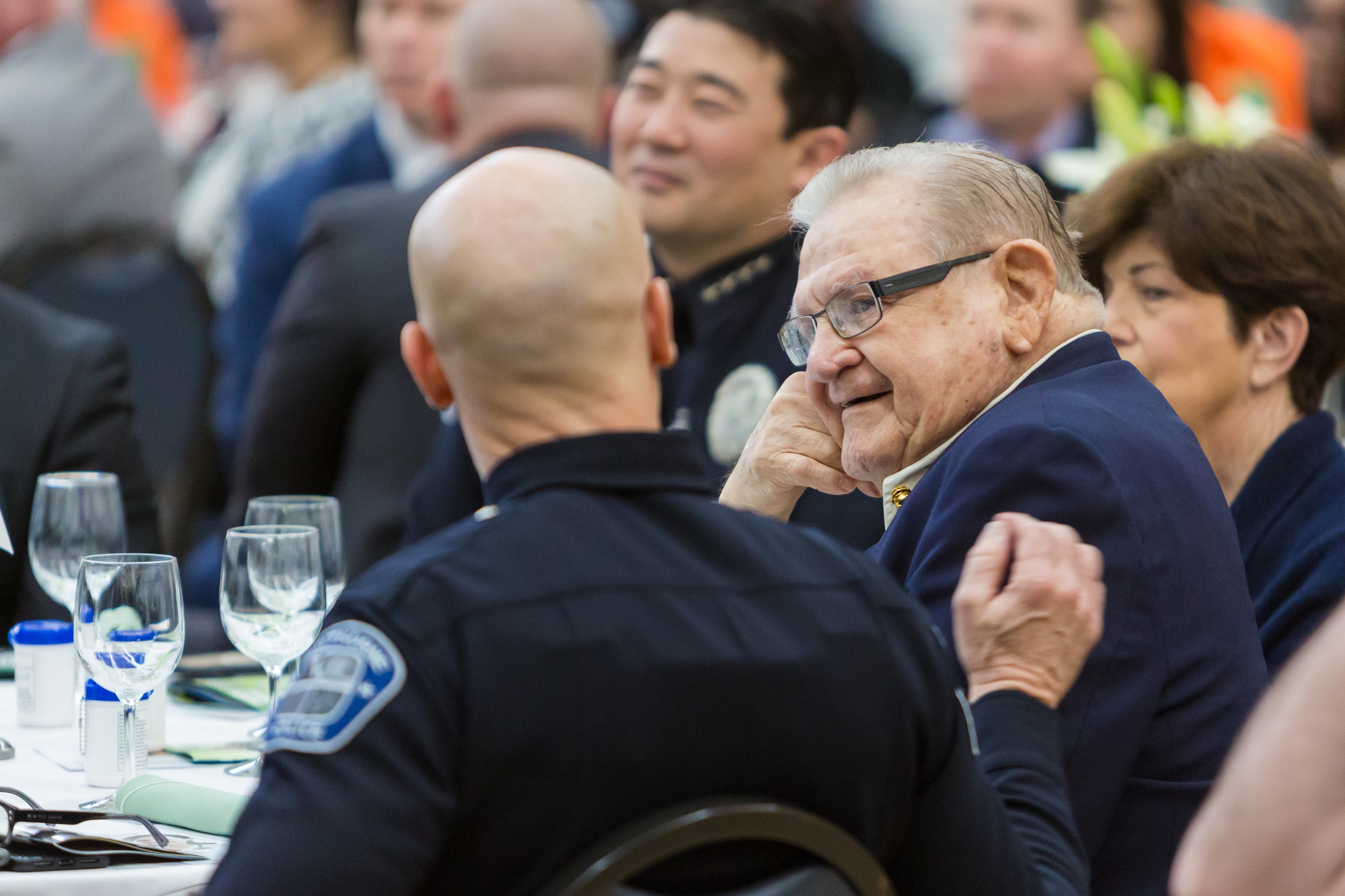 Citizen of the Year Dick Miller with Chief Ishii