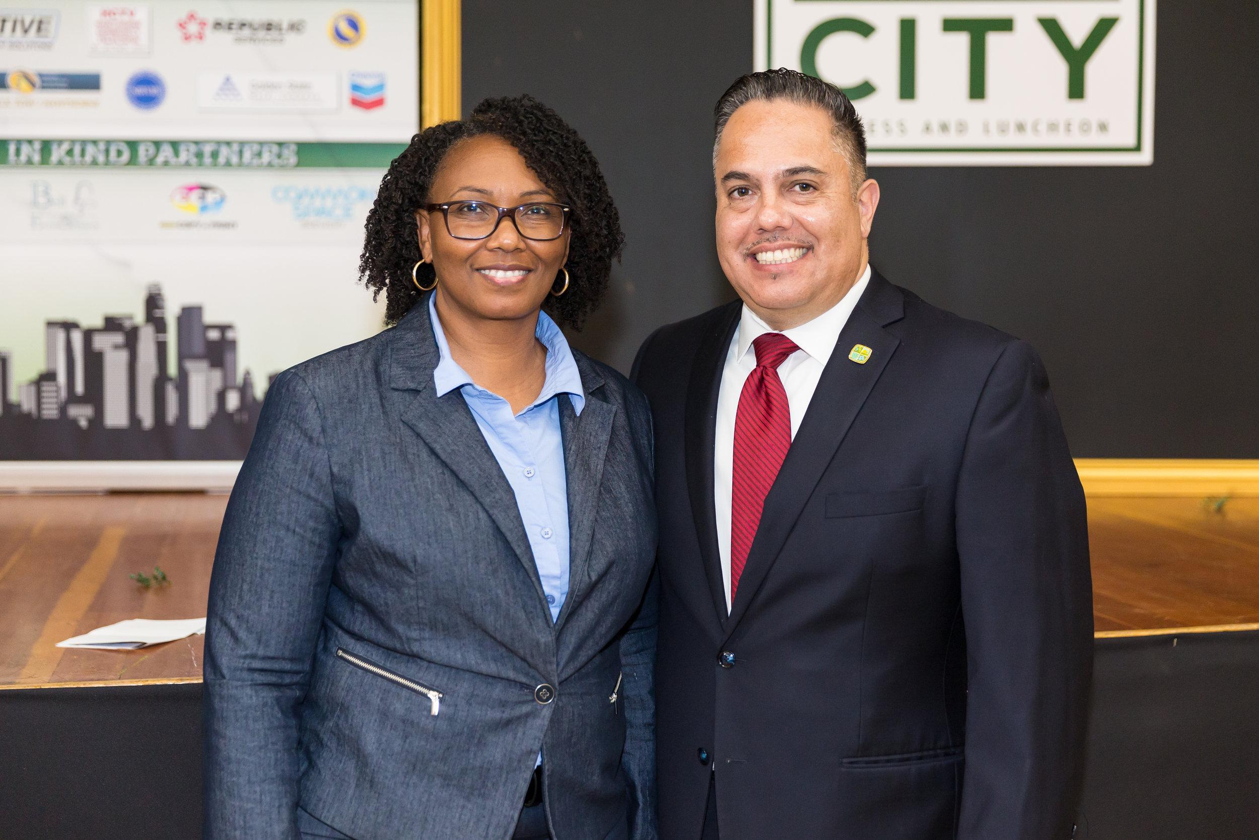 Mayor Vargas with Brenda Willisams