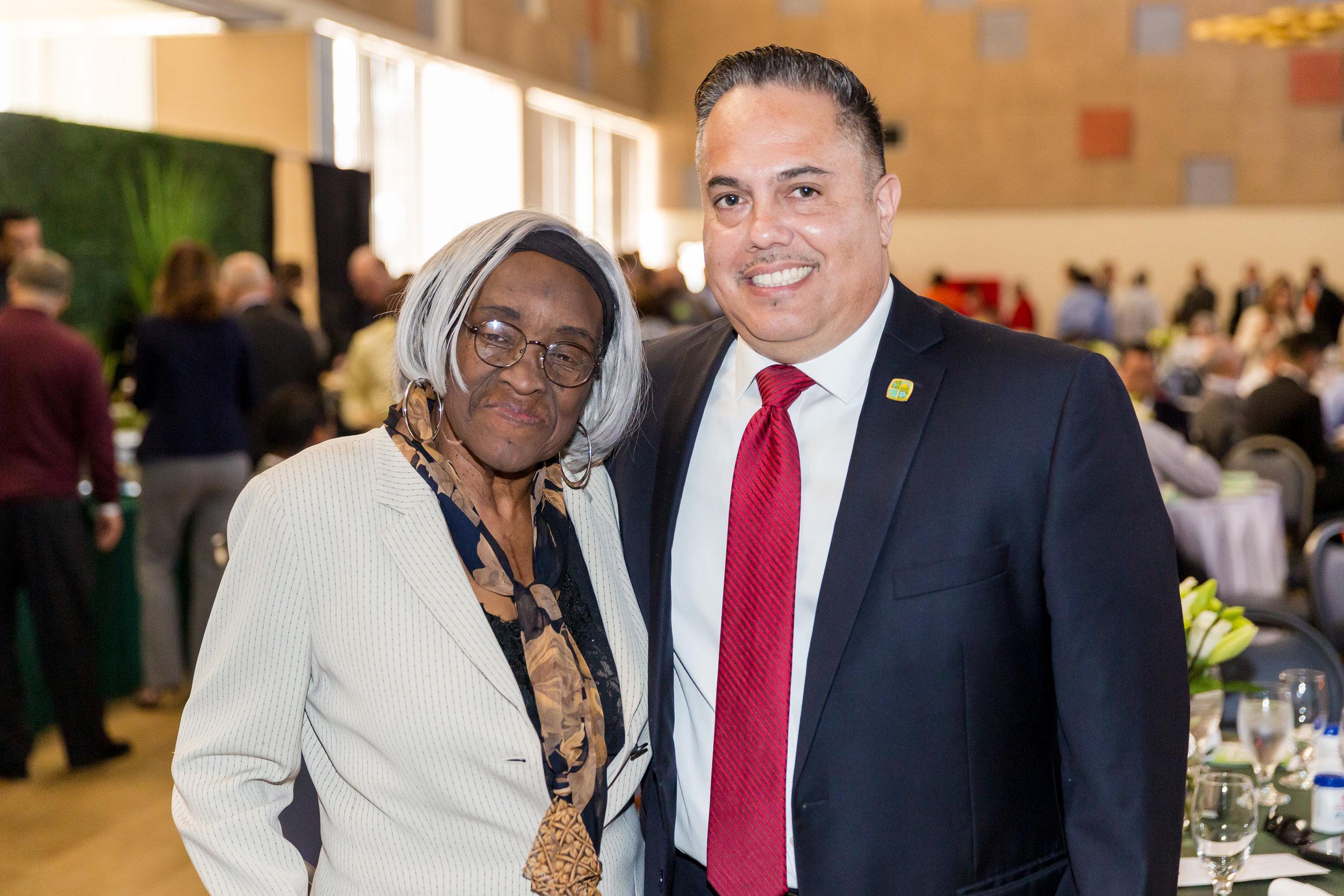 Mayor Vargas with Darlene Love