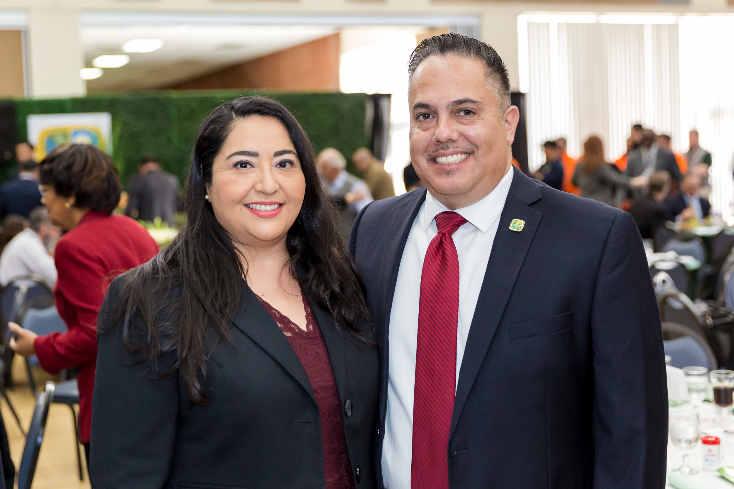 Mayor Vargas and Denise Campos Chamber Board of Directors