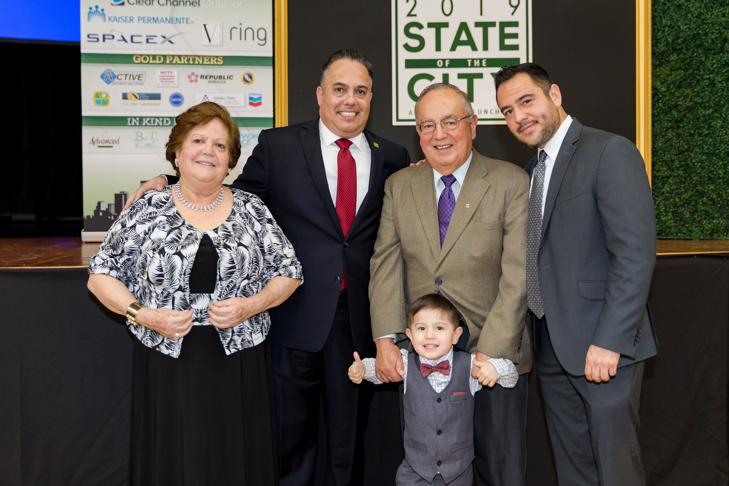 Mayor Vargas and Guests