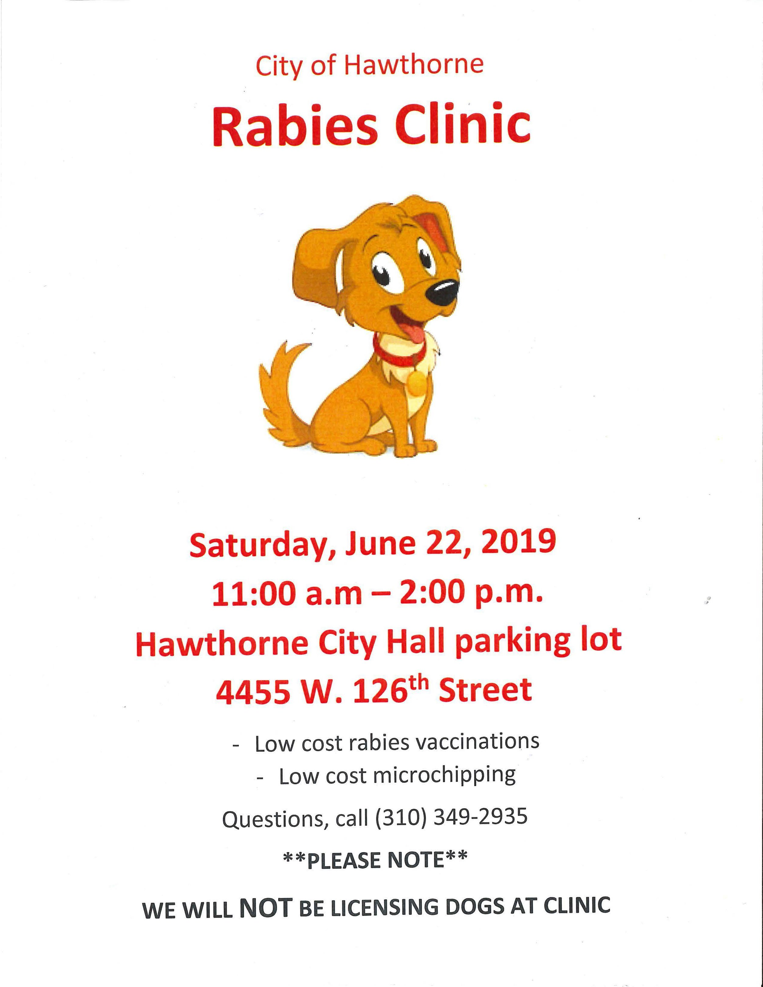 City of Hawthorne Rabies Clinic