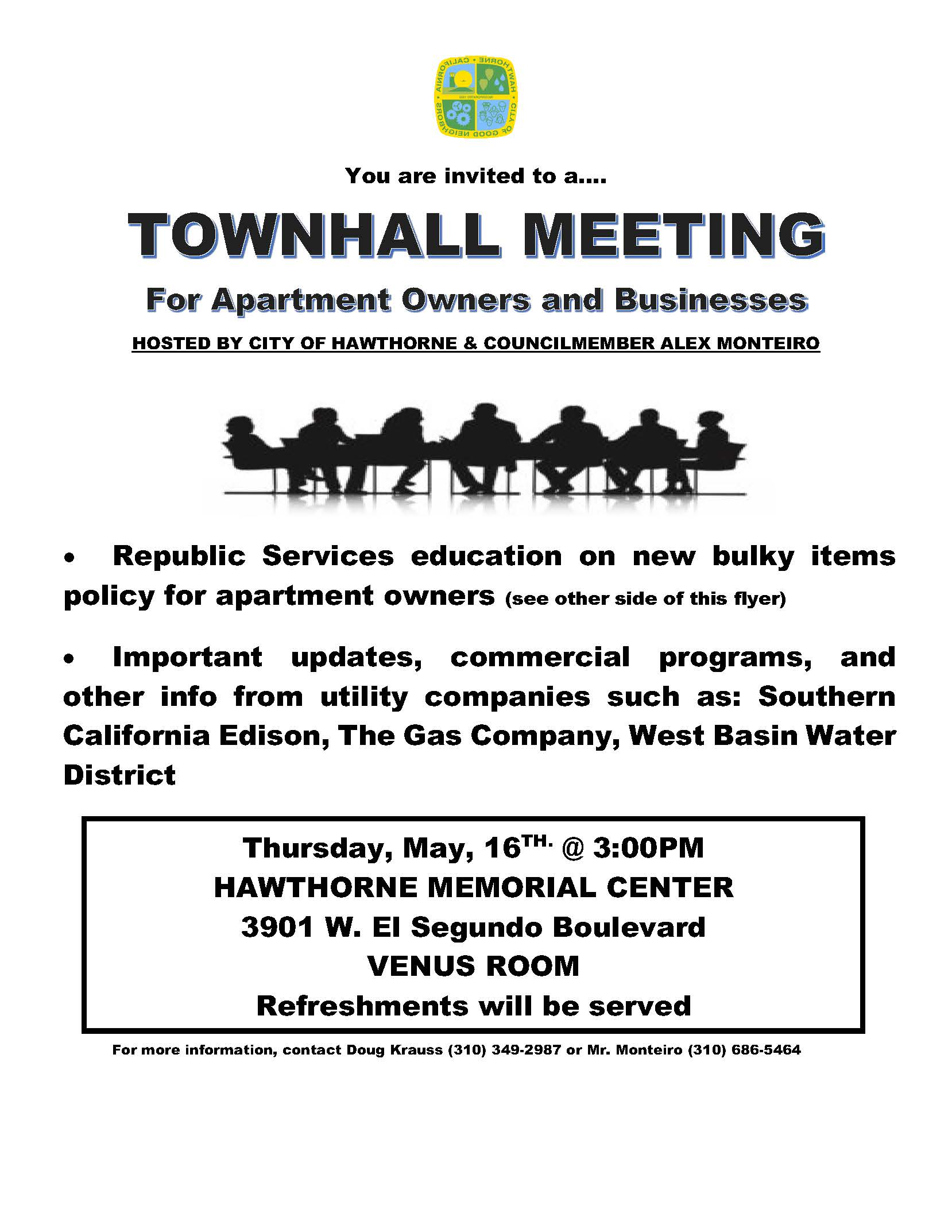 TownHall Meeting for Apartment Owners and Businesses
