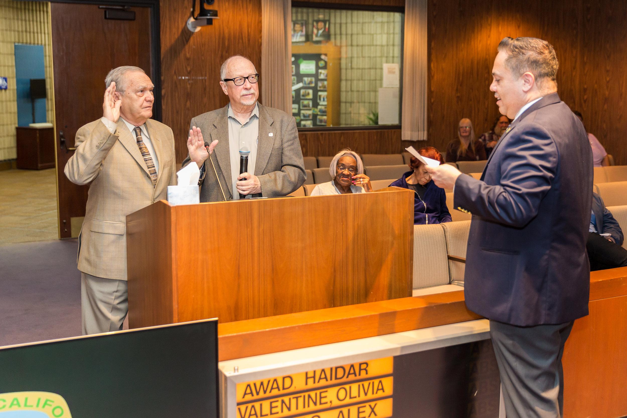 Manuel Balboa, Donald Harris and Mayor Vargas