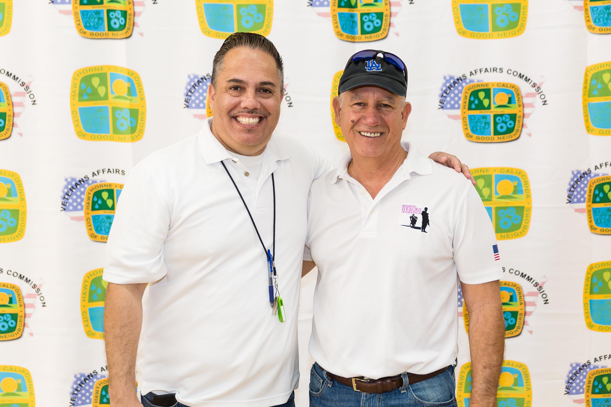 Mayor Vargas and veteran