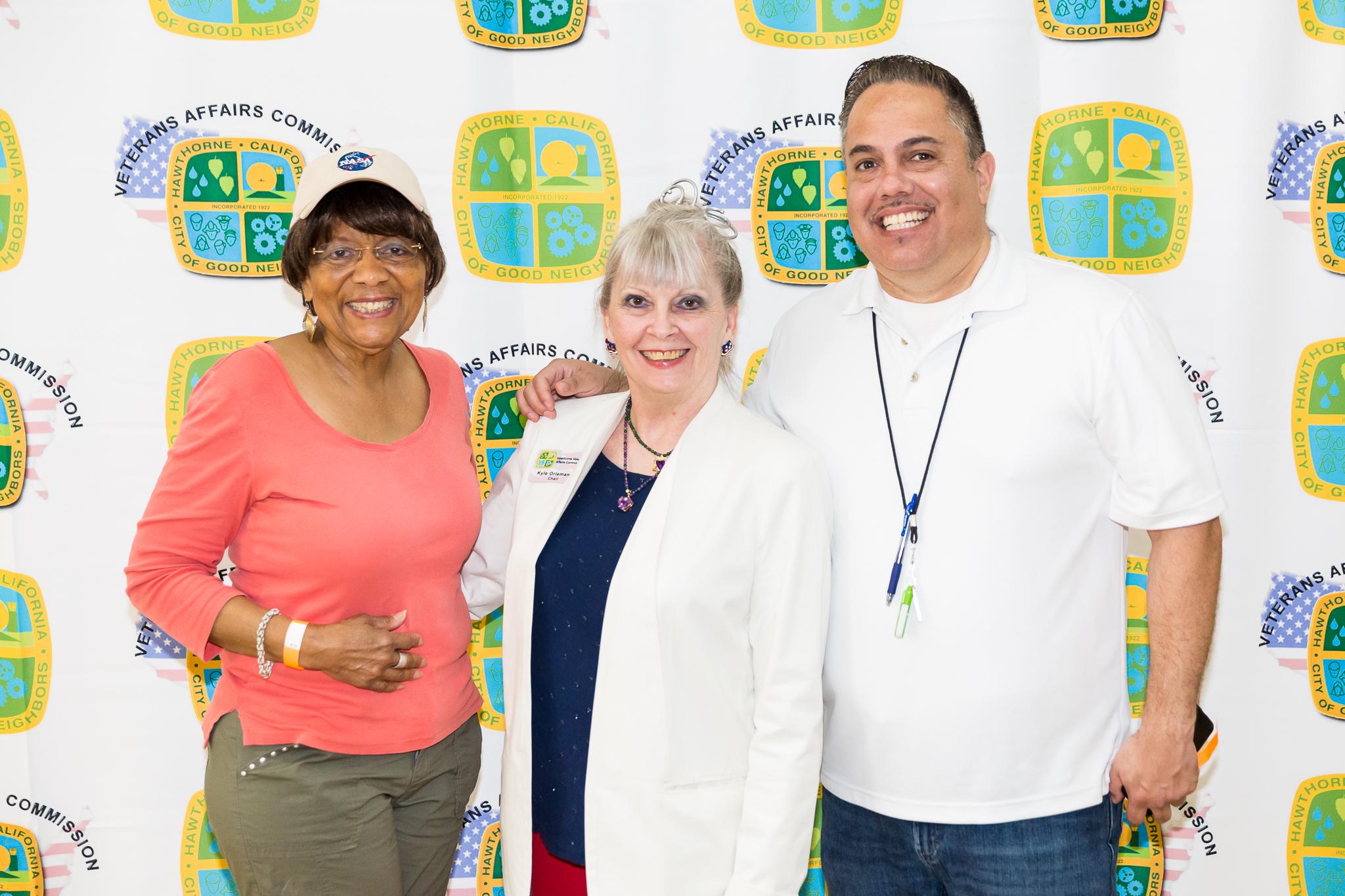 Mayor Vargas, Councilmember Olivia Valentine and Kyle Orlemann