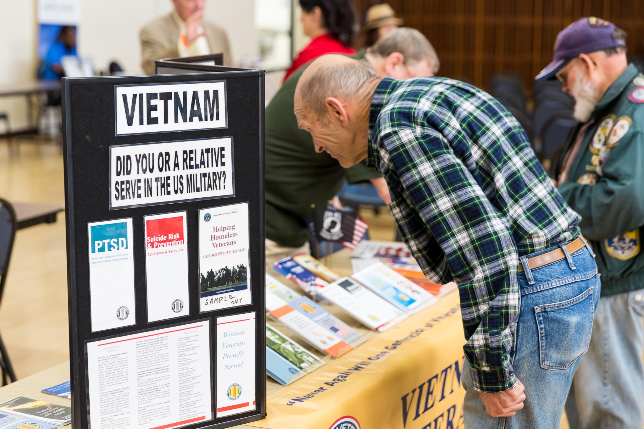 Vietnam Veterans booth