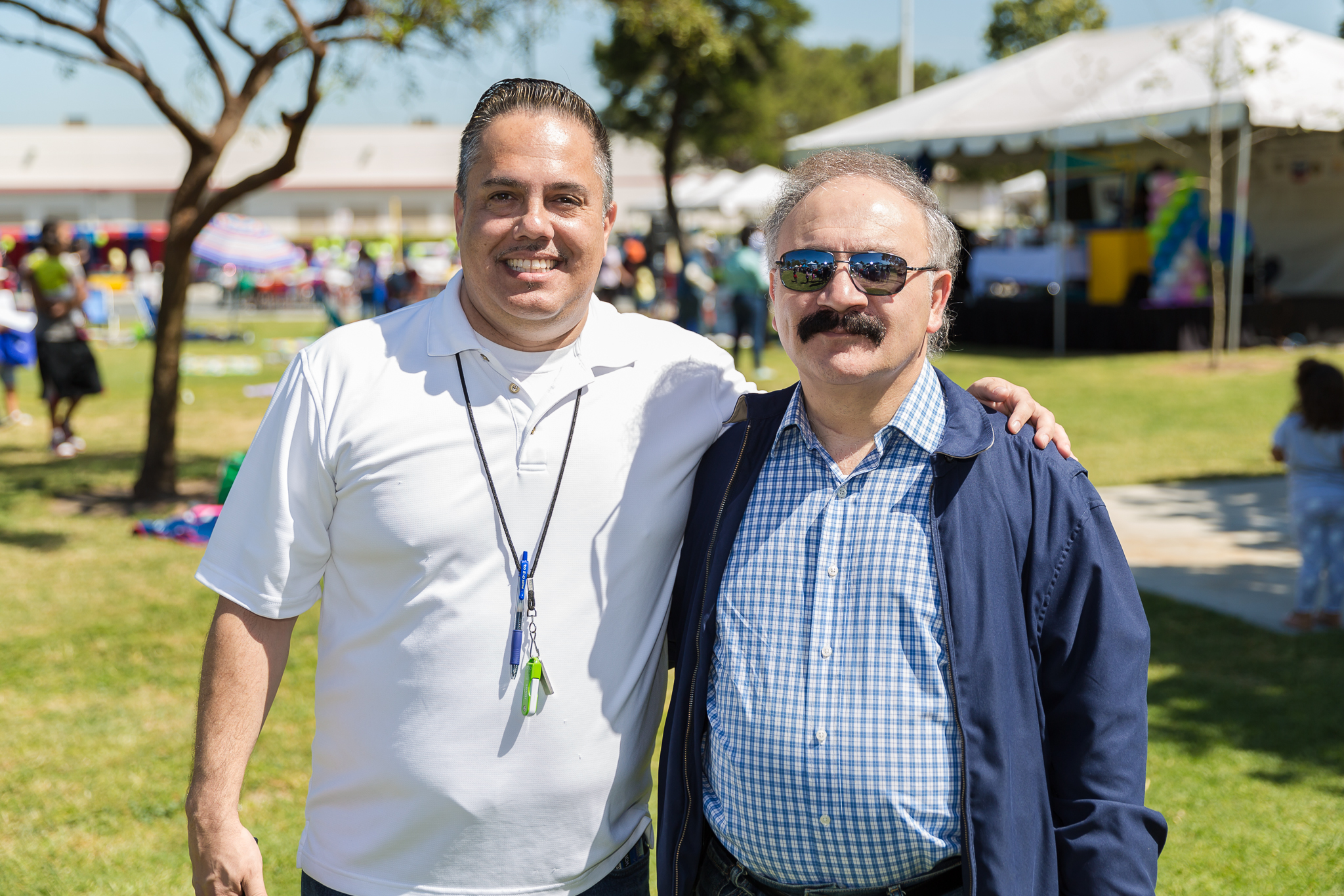 Mayor Vargas with City Manager Arnie Shadbehr