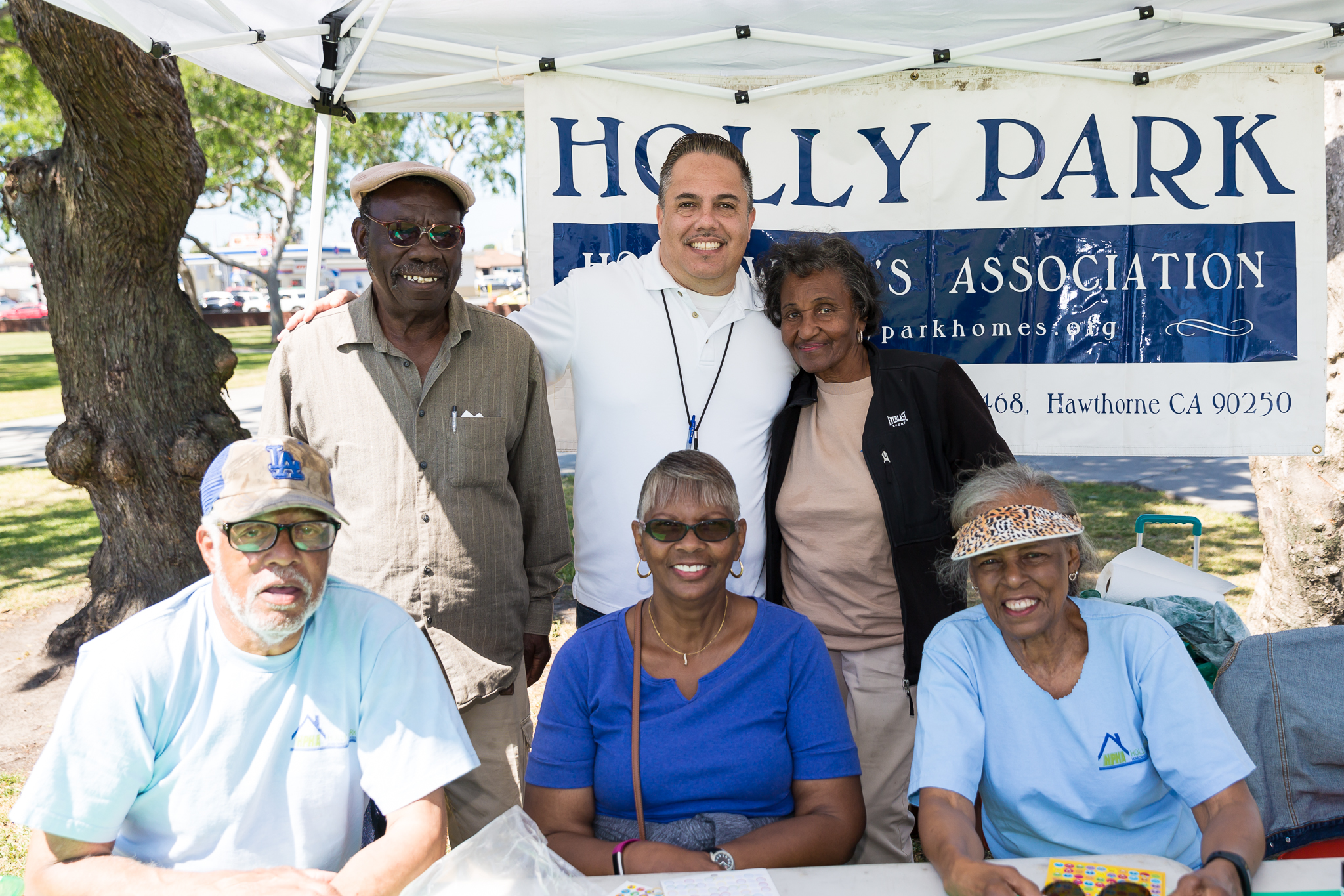 Holly Park Homeowners Association booth
