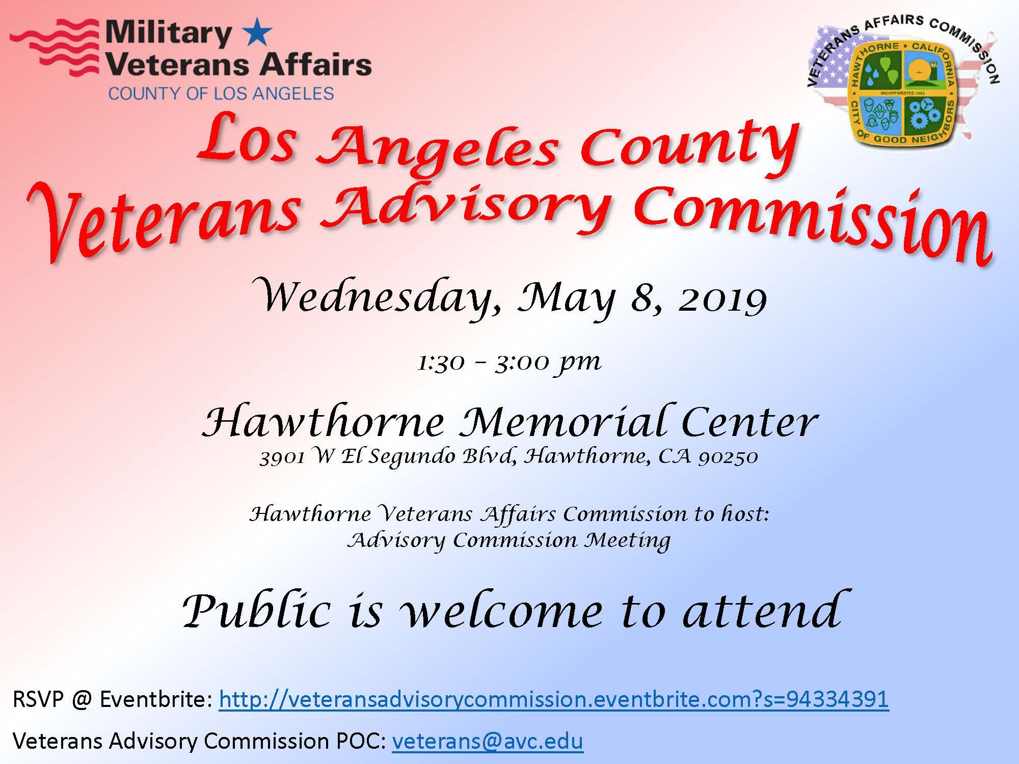 LA Country Veterans Advisory Commission meeting