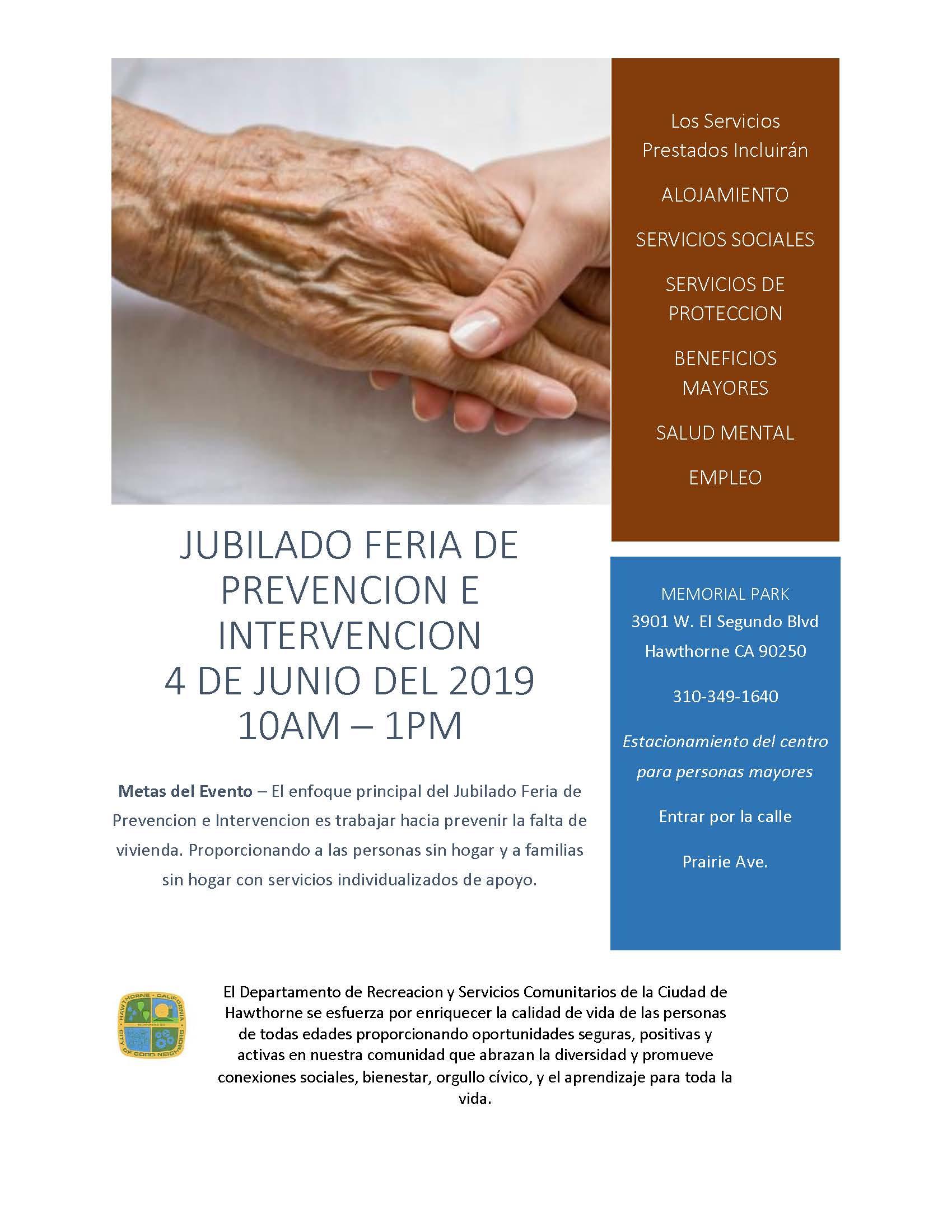 Senior Citizen Prevention and Intervention Fair - Spanish