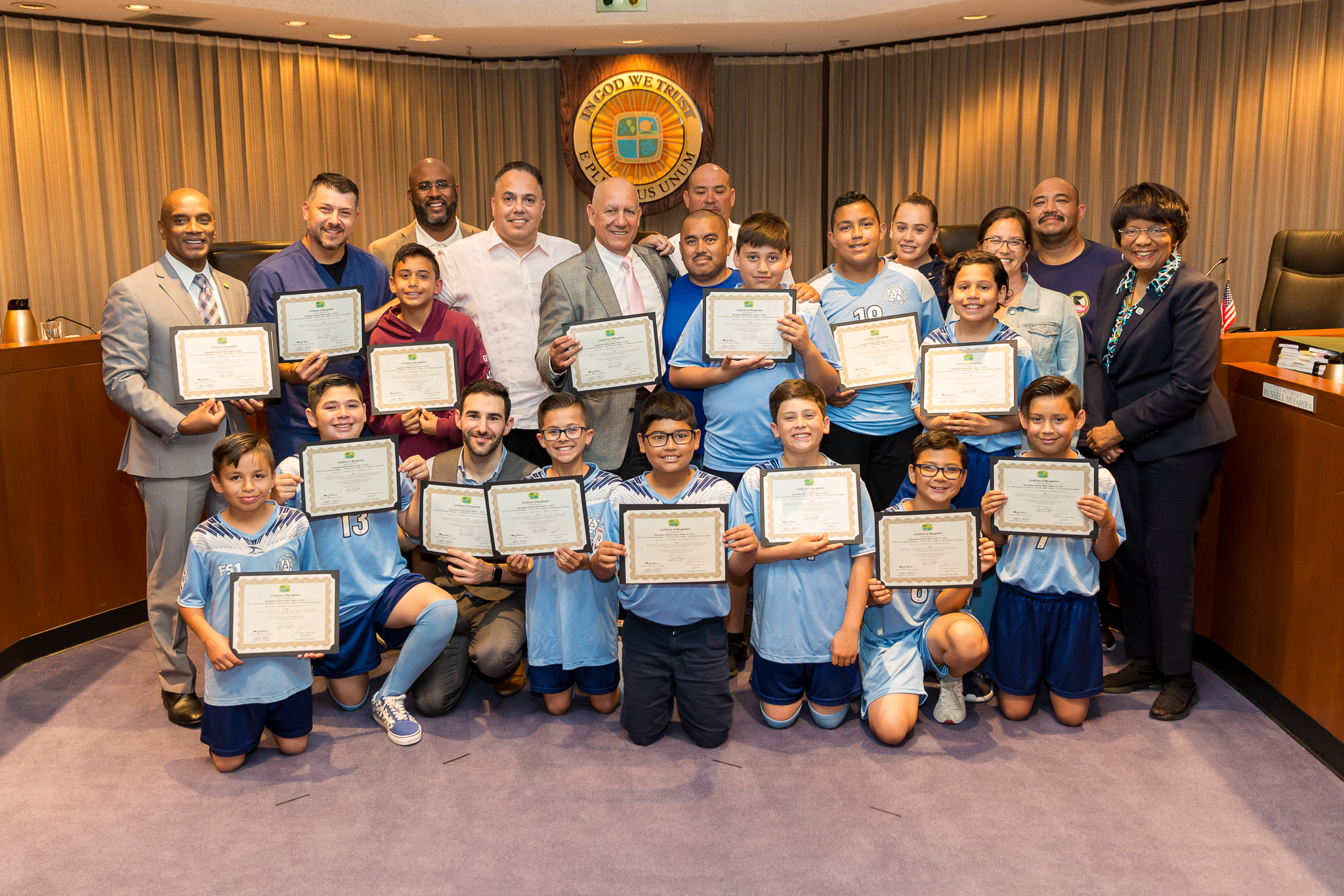 Hawthorne Warriors soccer team and council