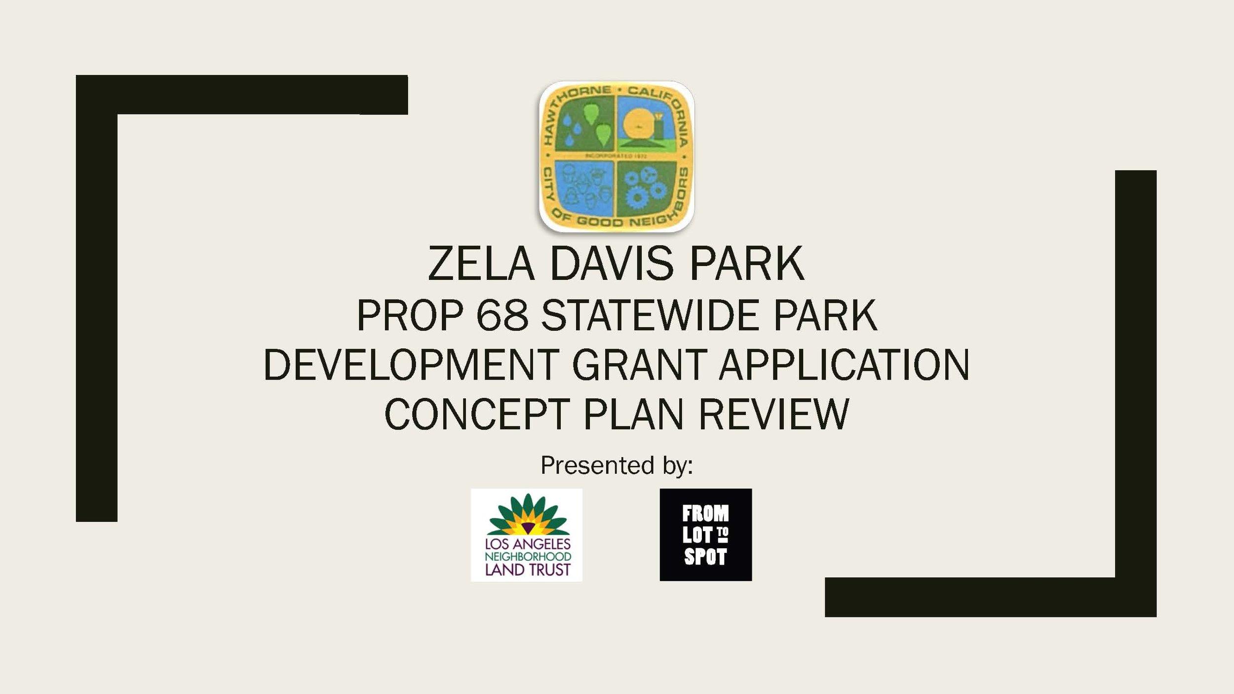 Zela Davis Park Concept Plan Review pdf