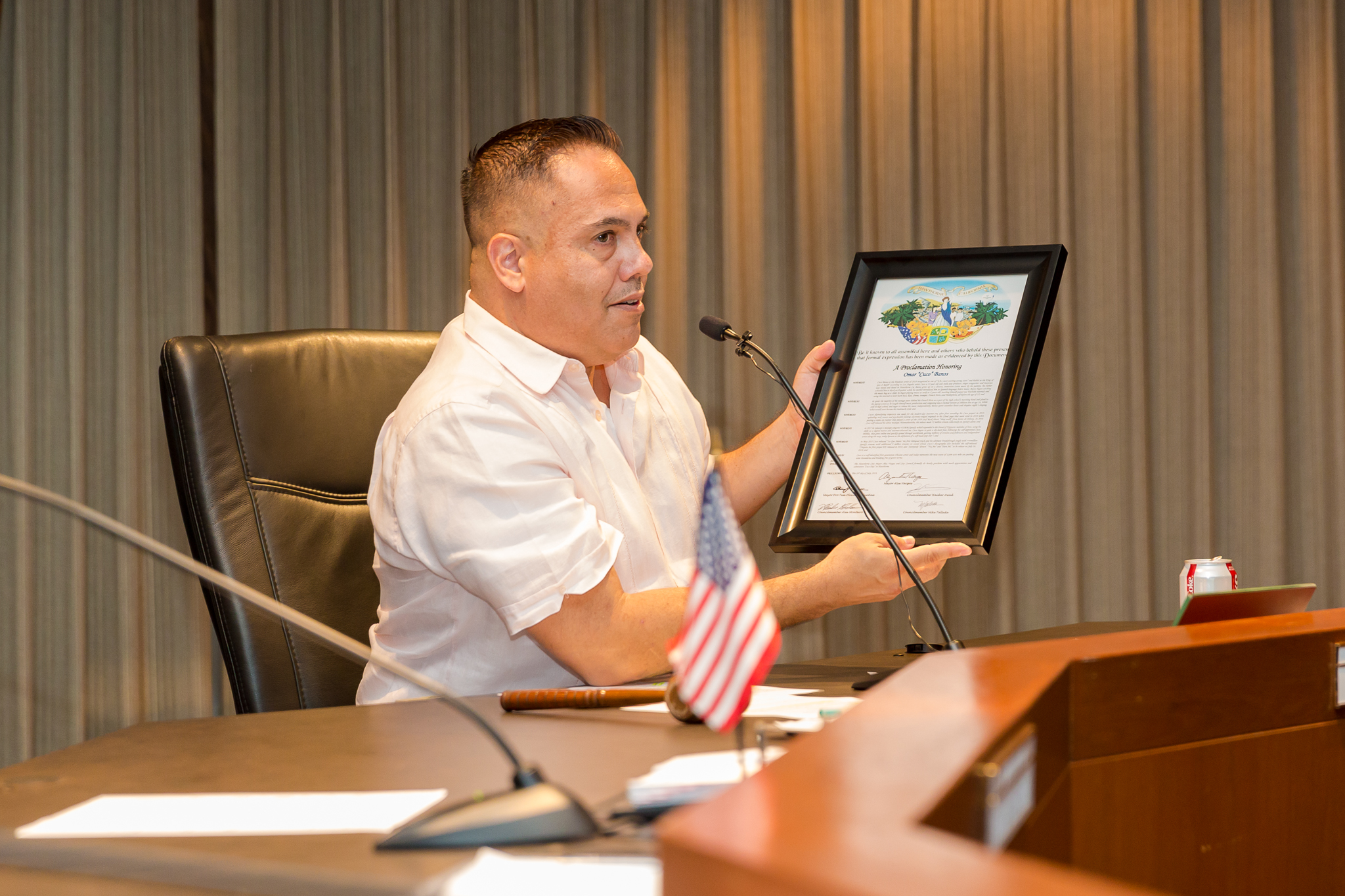 Mayor Vargas with Proclamation