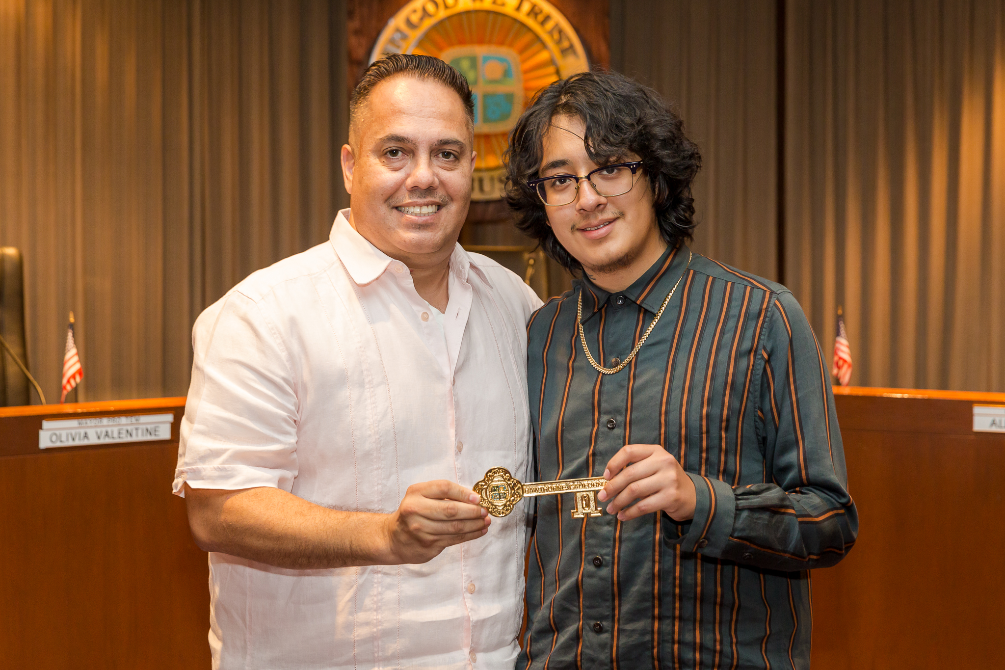Mayor Vargas and Cuco with Key to the City