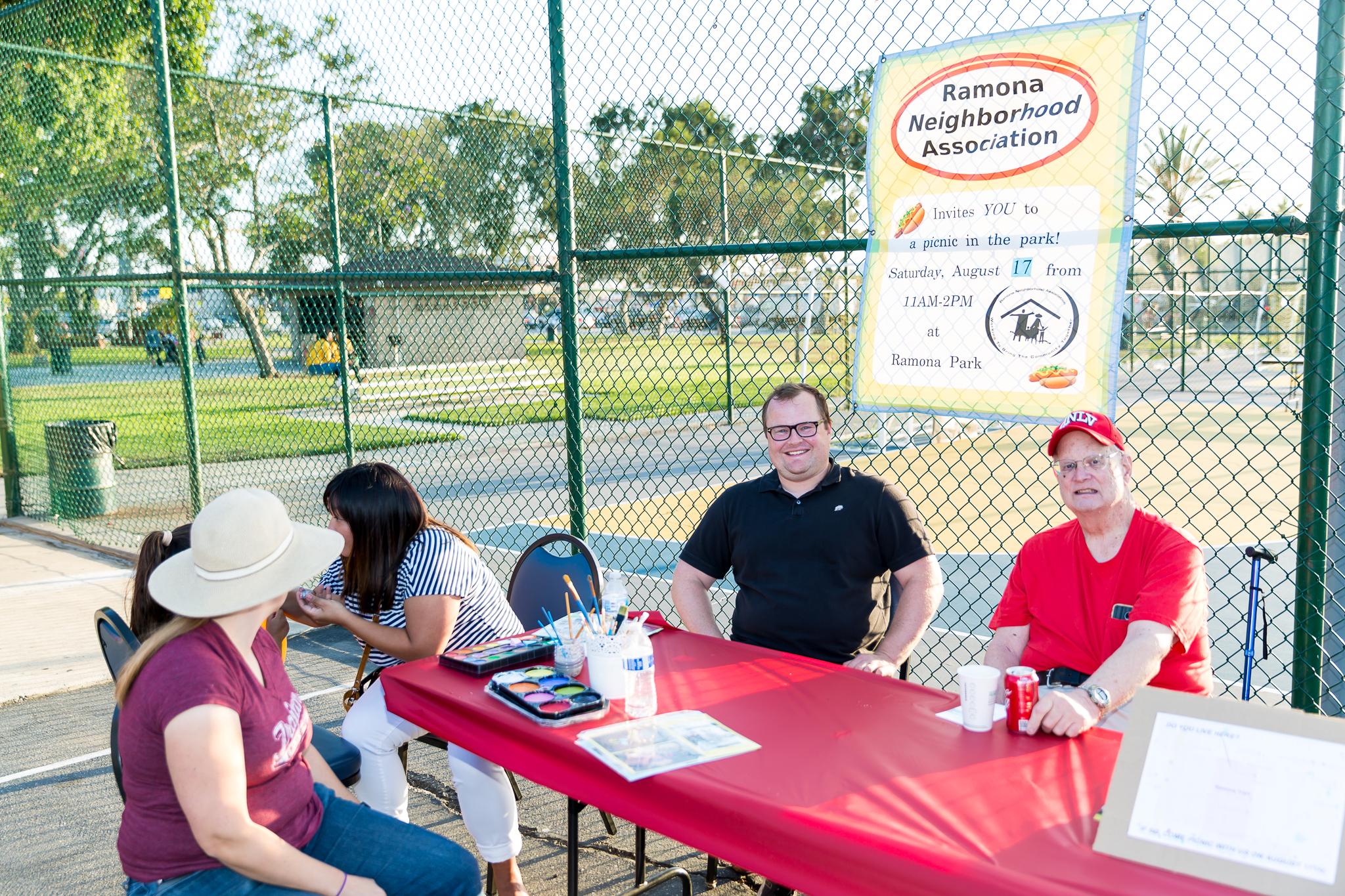 Ramona Neighborhood Association booth