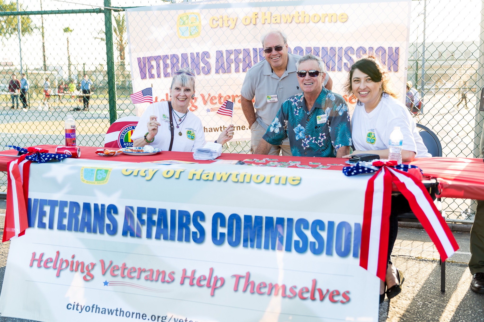 Veterans Affairs Commission booth