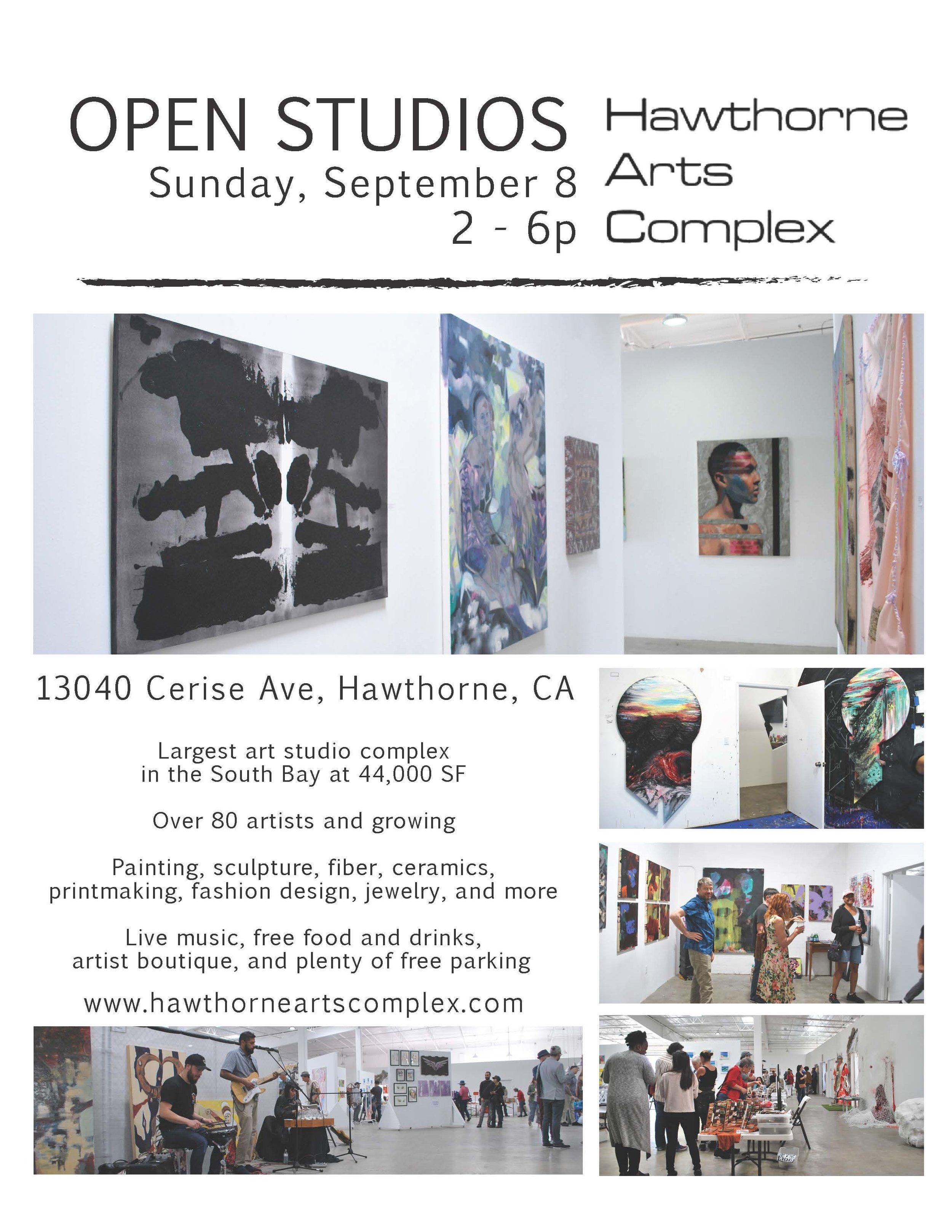 September Hawthorne Arts Complex Open Studios