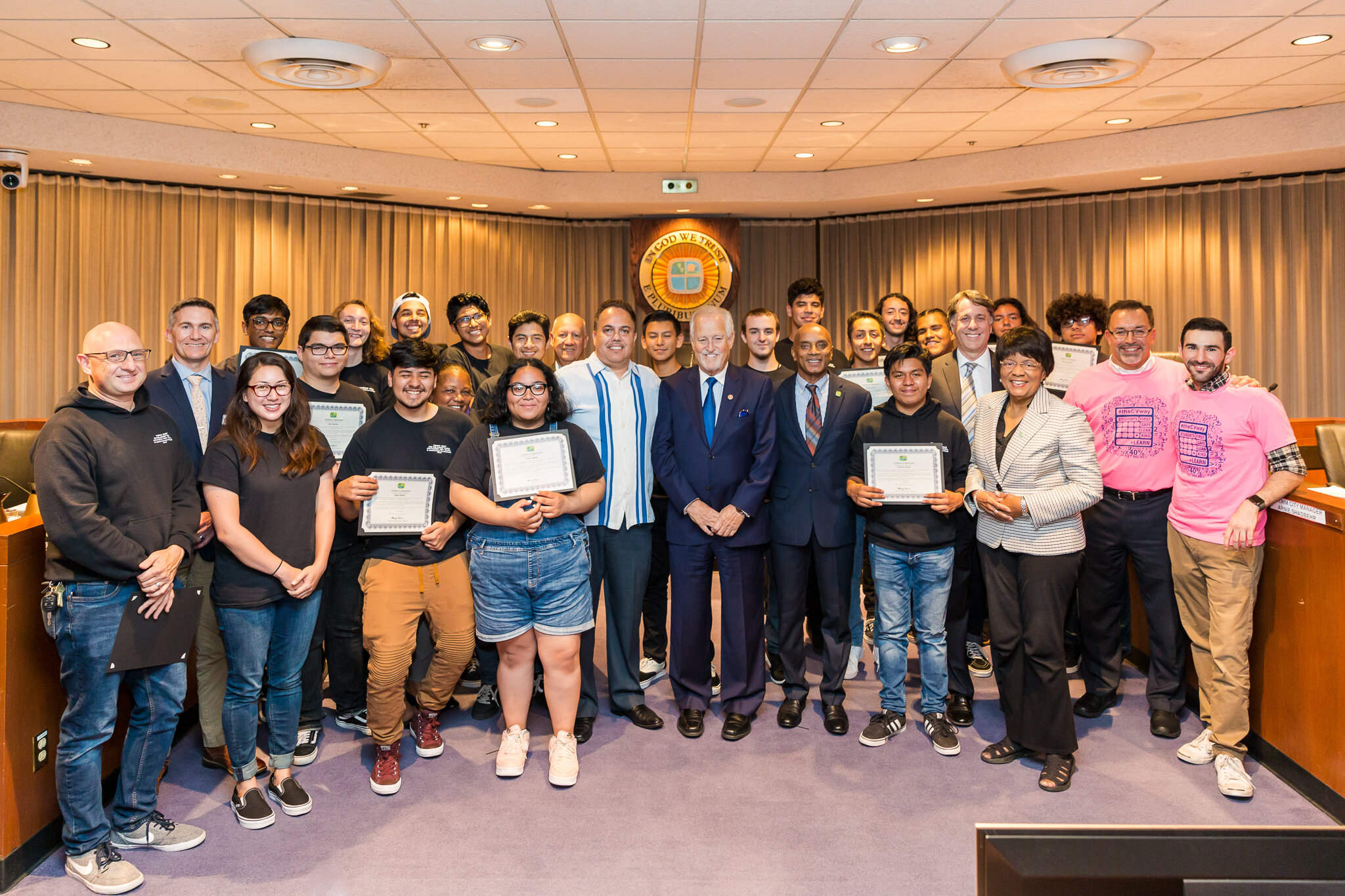 Council Members and Graduates of the Apprenticeship program