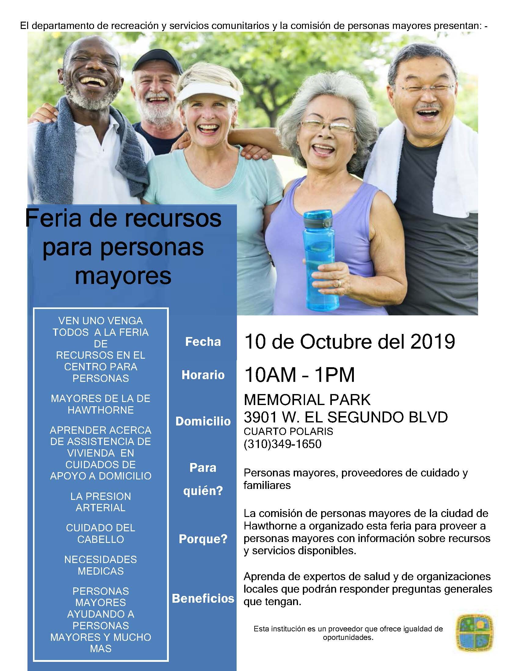 Senior Citizen Resource Fair - Spanish