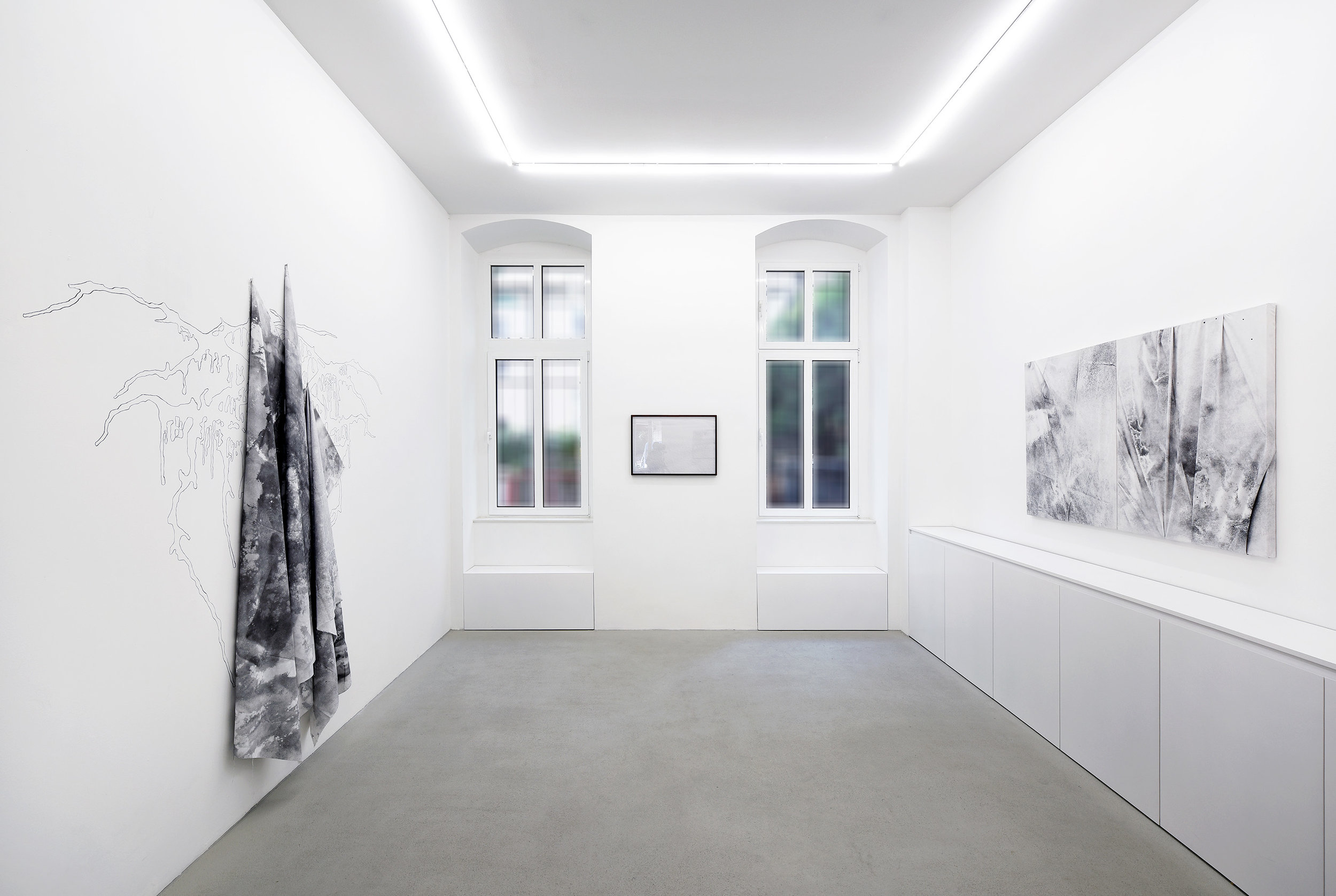 Installation Shot For  h E ll  at Galerie Rolando Anselmi. Berlin, Germany