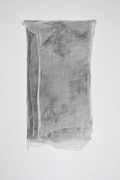 Ten Sheets Of Used Cloth   2015  Enamel Paint and Dirt on Cloth  66 x 33 inches