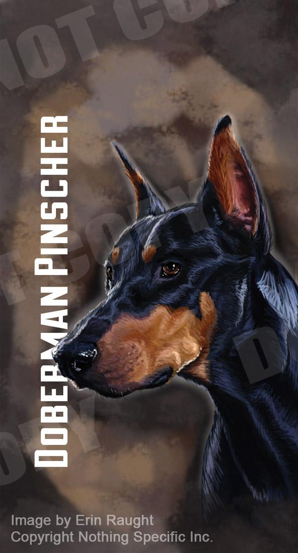 7012 - Doberman Pinscher - Dog - Pet - Black - Brown Background.jpg