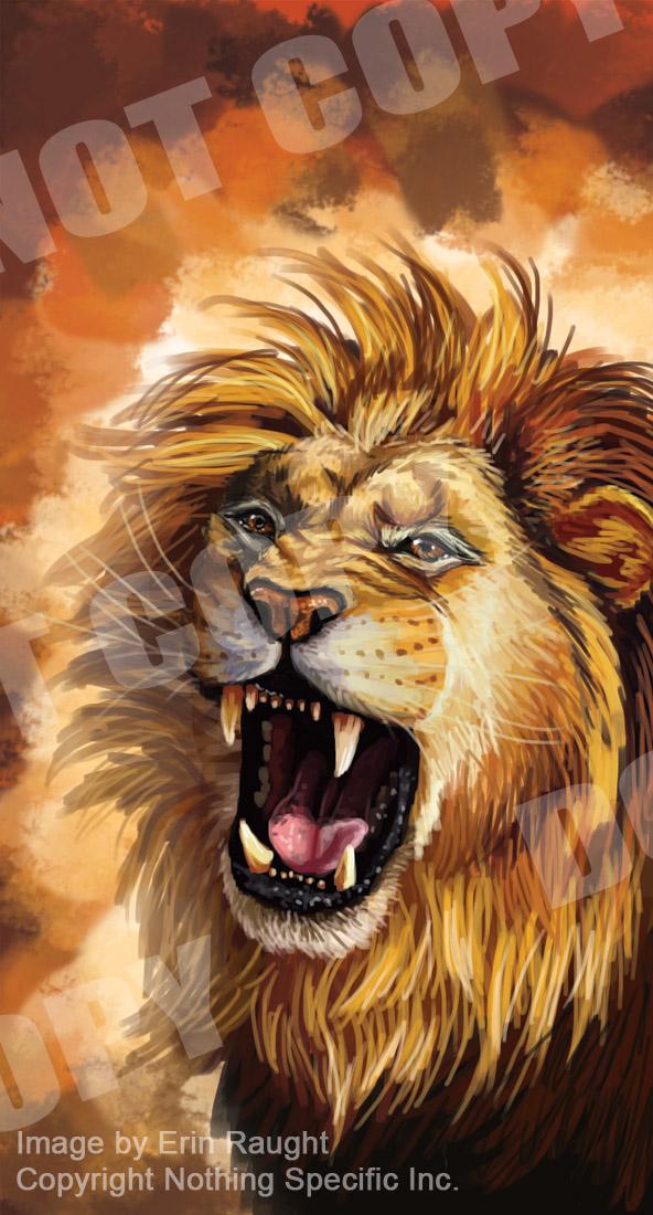7116 - Lion - Roar - Fierce - Big Cat - Orange.jpg