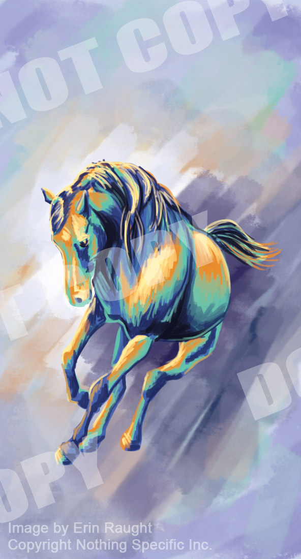 7132 - Horse Running - Painterly - Abstract - Expressionism.jpg