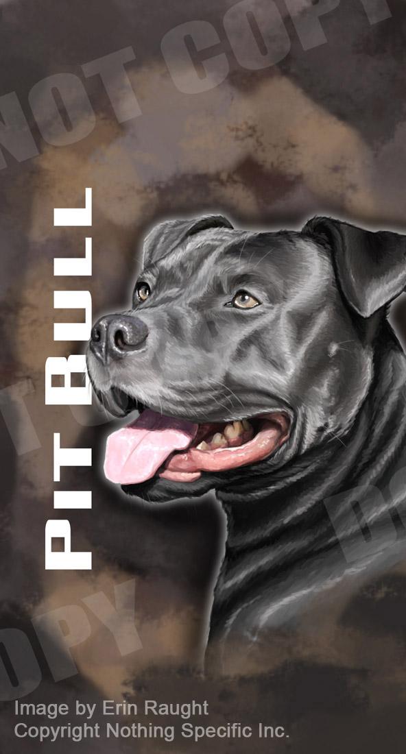 7161 - Pit Bull Brown - Pitbull American Staffordshire Terrier Dog Pet.jpg